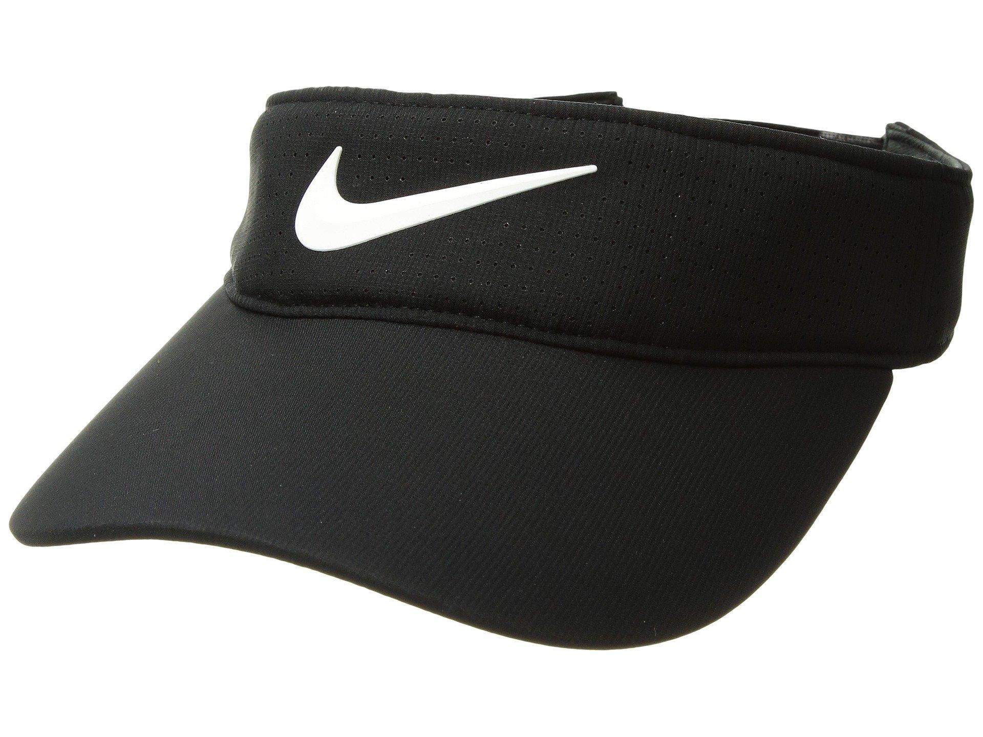 14803768450e9 Lyst - Nike Aerobill Visor (white anthracite black) Caps in Black