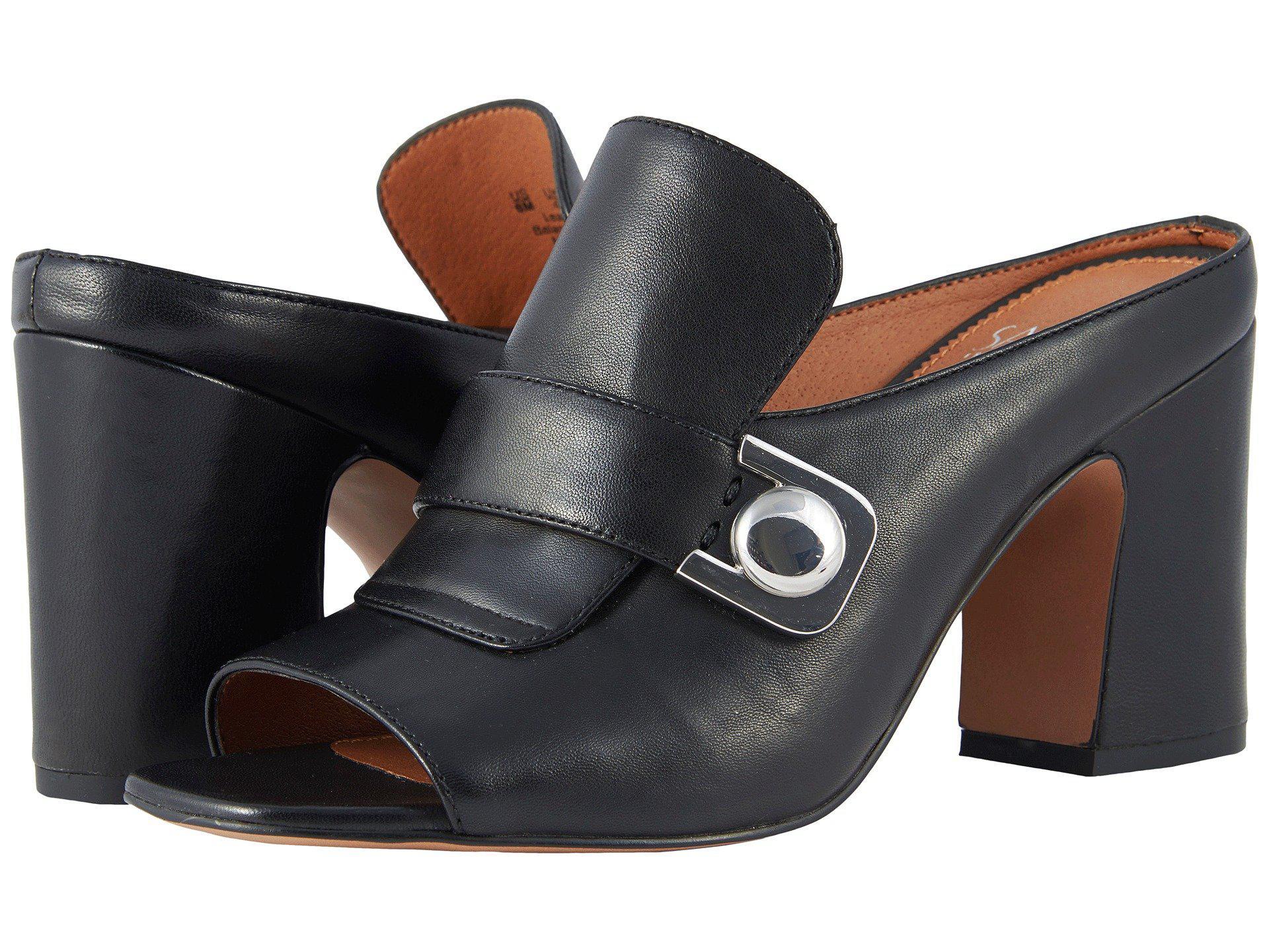 Sarto by Franco Sarto Rosalie Leather Block Heel Mules lvR3Y