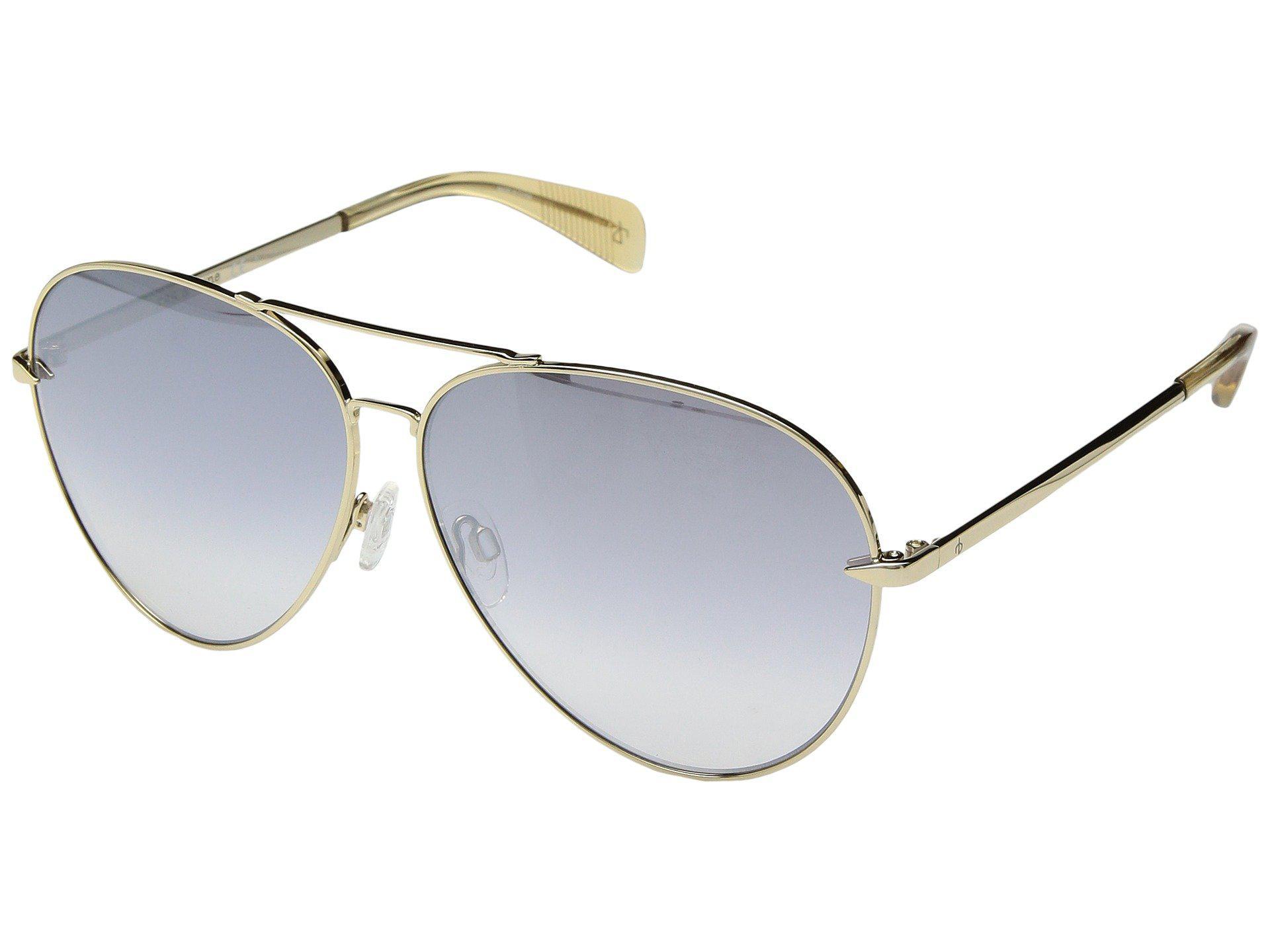 5b8972463a0 Rag   Bone. Women s Metallic Rnb1006 s (palladium silver) Fashion Sunglasses