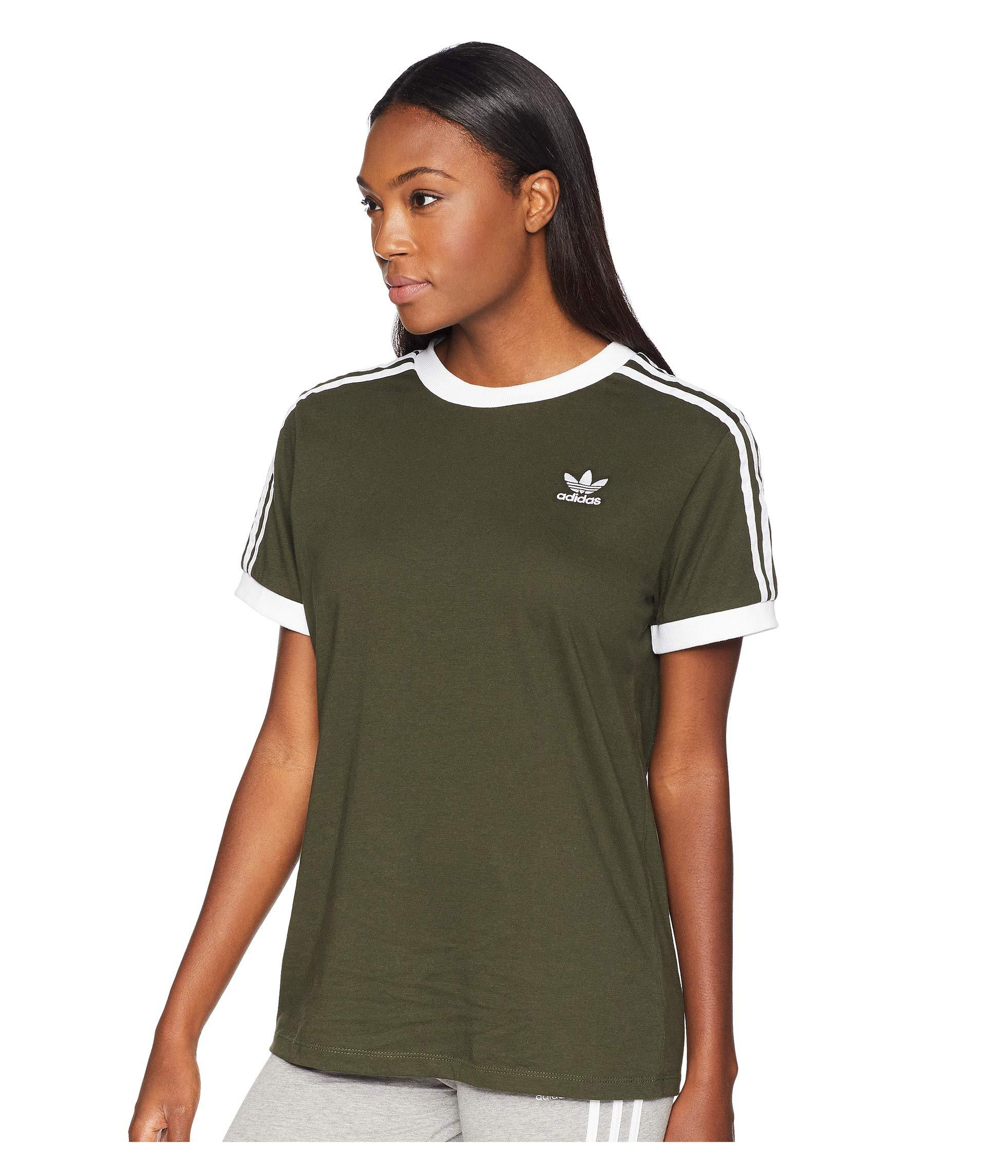 bf3dd0e2b adidas Originals 3 Stripes Tee (trace Maroon) Women's T Shirt in ...