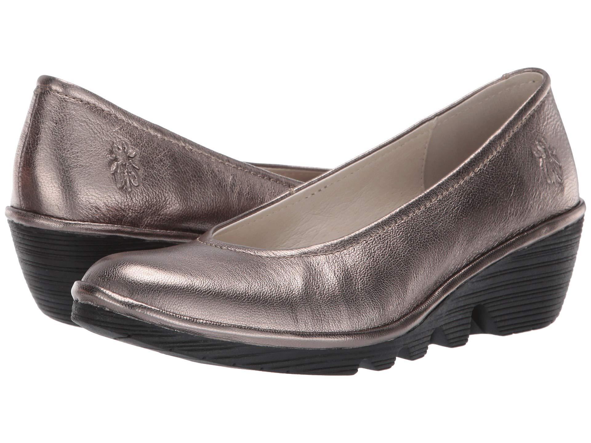 2ad150a8749cc Fly London Pump (black Mousse) Women's Wedge Shoes - Lyst