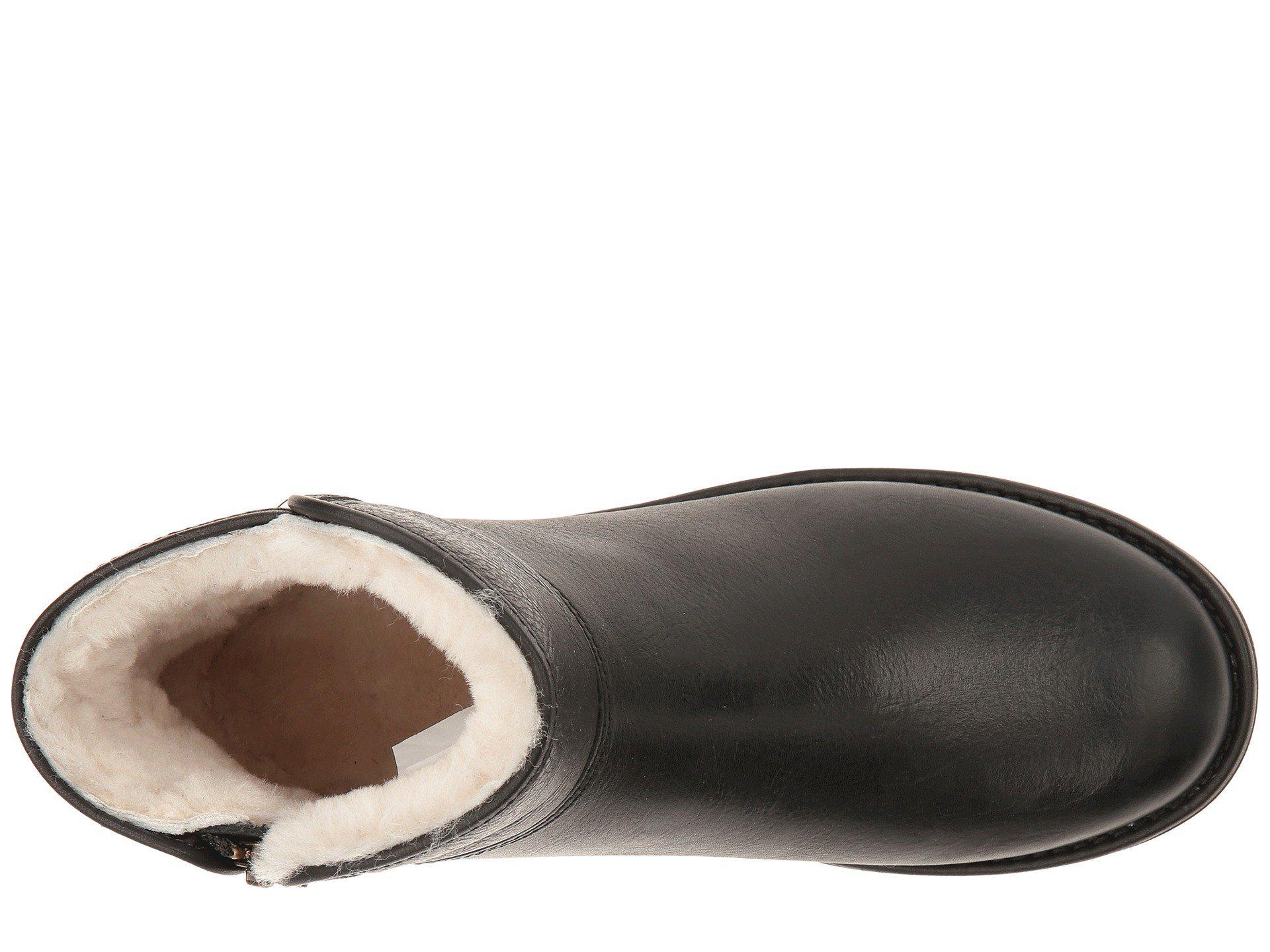 Lyst - UGG Abree Mini Leather Boots Nero in Black fad146fee