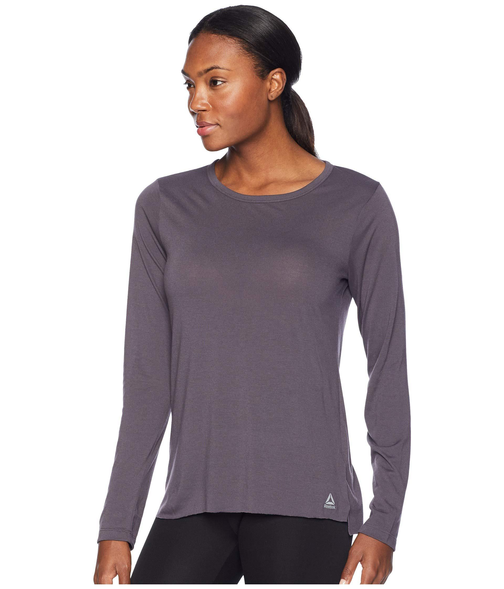 Lyst - Reebok Supremium Long Sleeve Tee (chalk Green) Women s Long Sleeve  Pullover in Gray 18d7a7edd