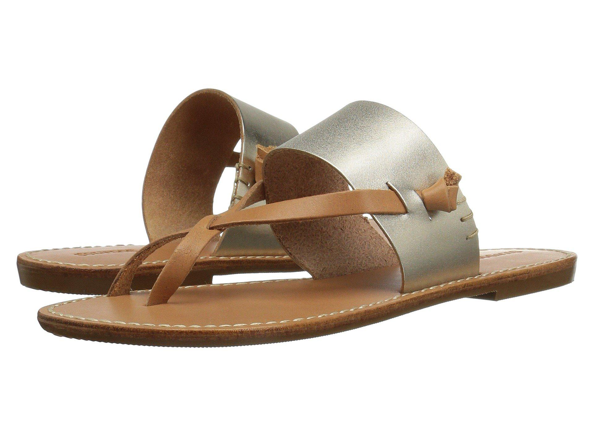 959a11250628 Soludos. Brown Slotted Thong Sandal (metallic Platinum) Women s Sandals