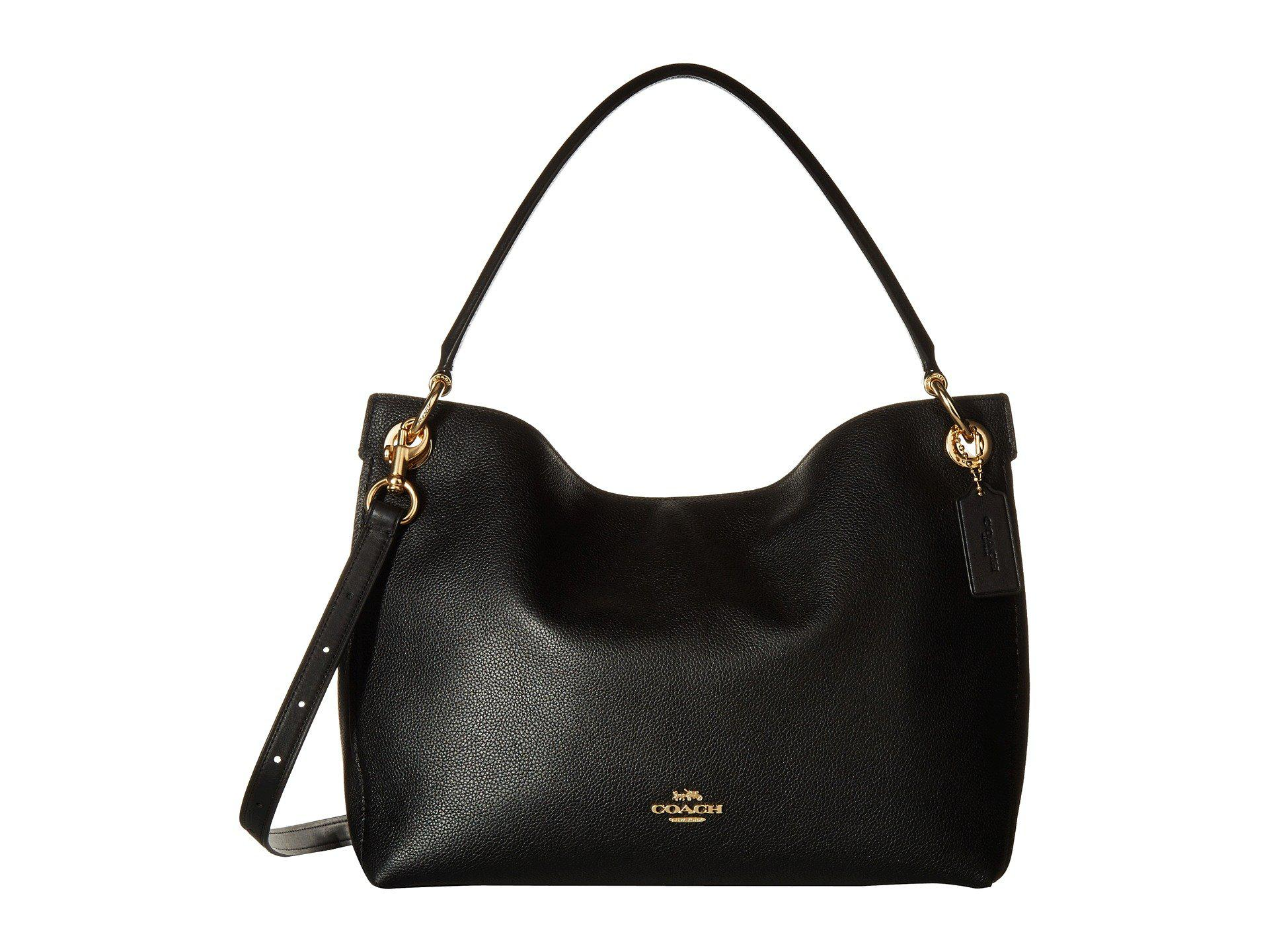 010a2e9aa02 coach-LIBlack-Polished-Pebble-Leather-Clarkson-Hobo-liblack-Handbags.jpeg