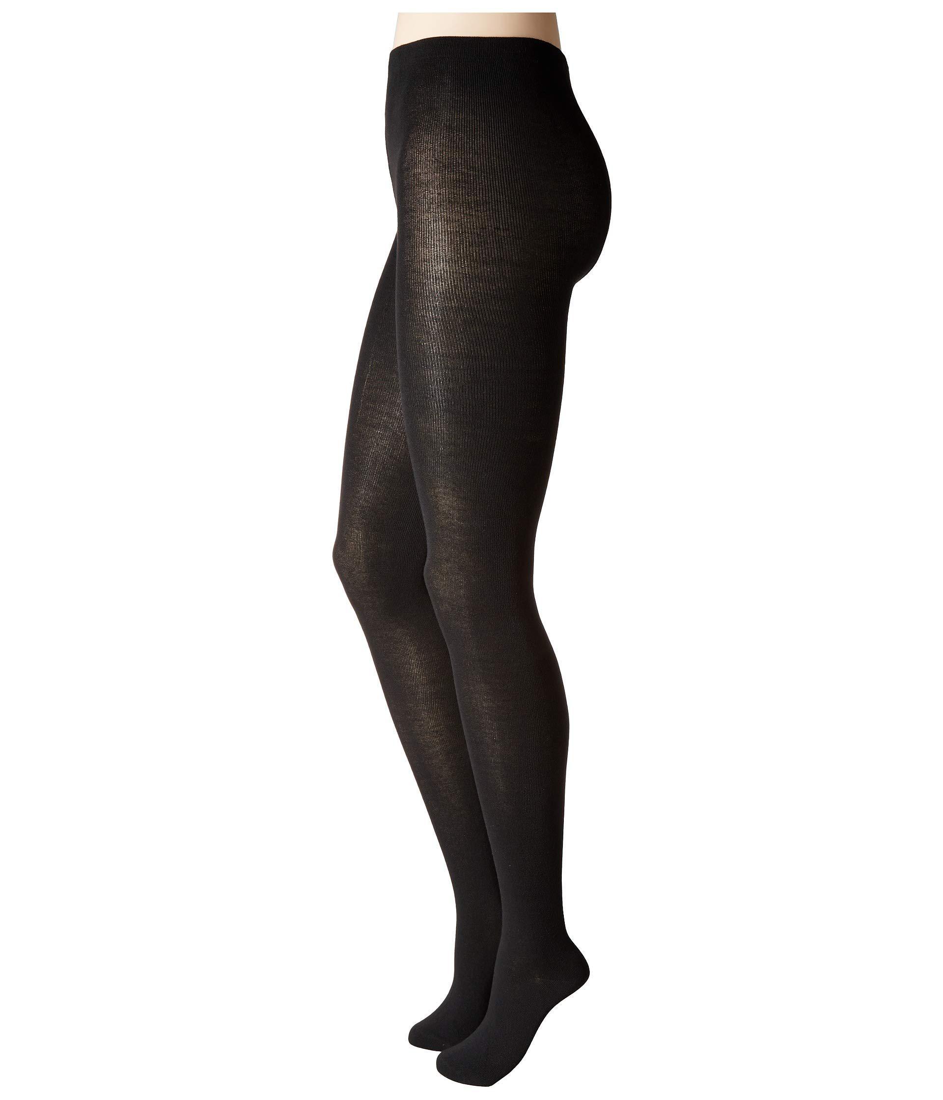 f03bc001b986e Lyst - Hue Flat Knit Sweater Tights (black) Hose in Black