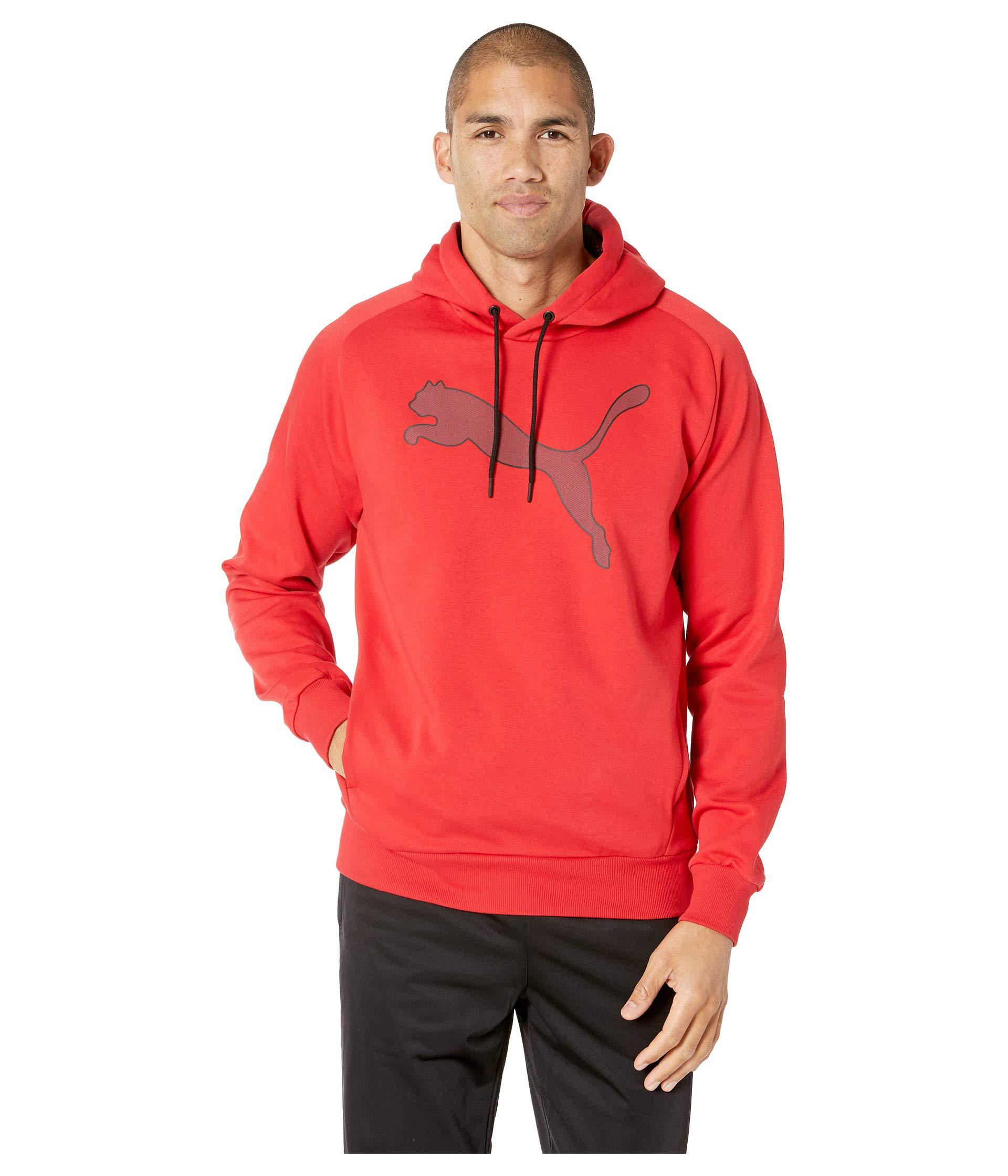 836ca5a221d8 Lyst - PUMA P48 Modern Sports Fleece Hoodie (ribbon Red) Men s ...
