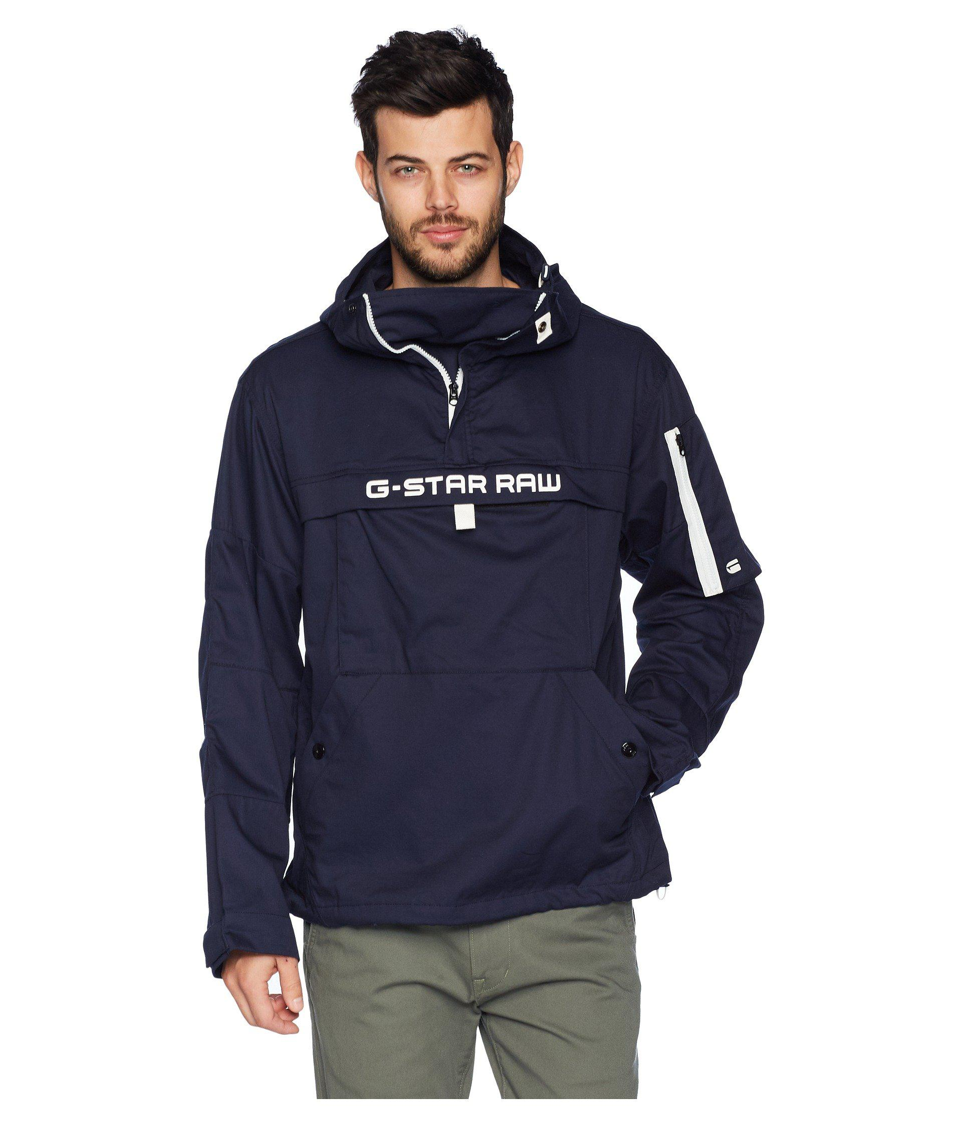 G-Star RAW Canvas Rackam Hooded Anorak Jacket (sartho Blue ...