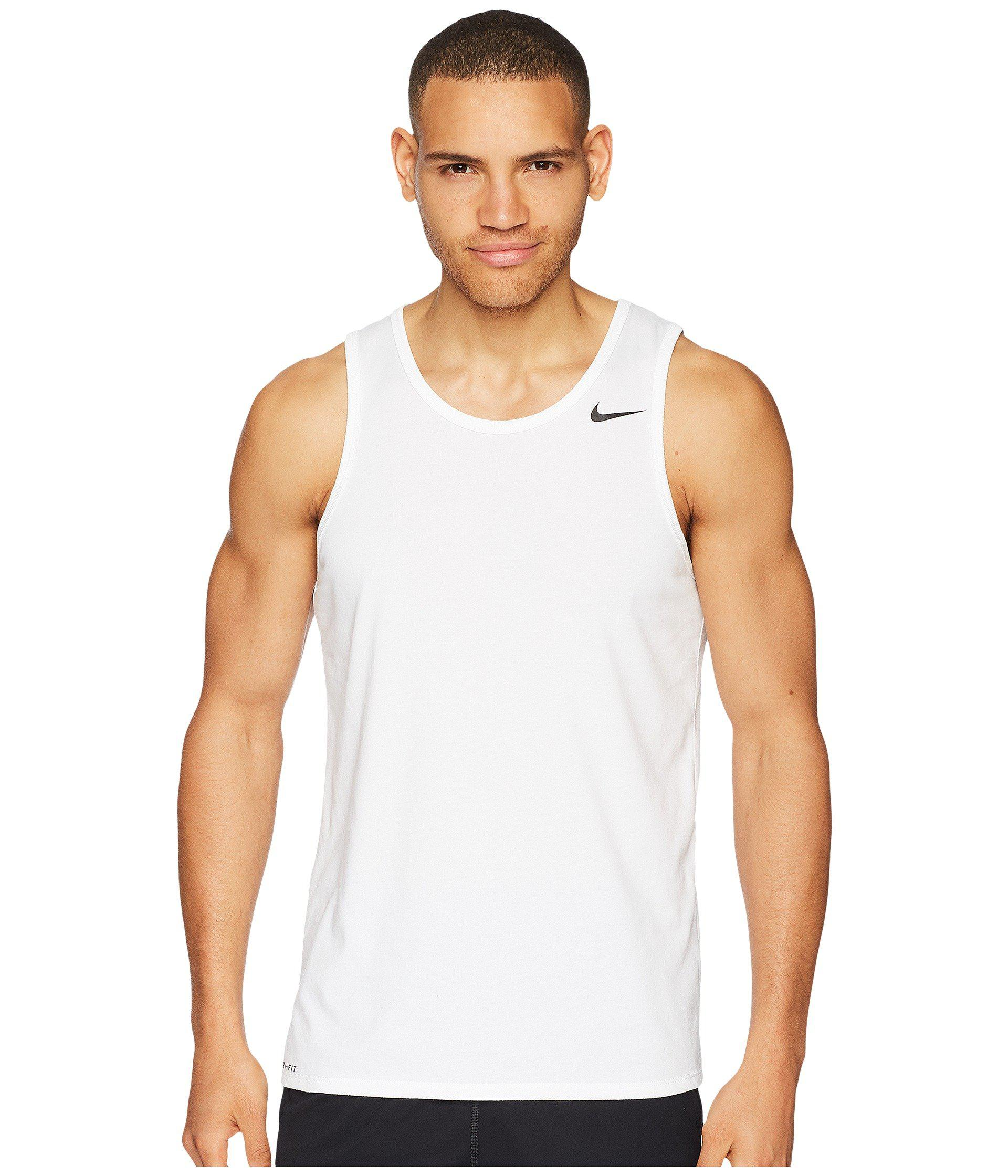 bfca1eedf06b Lyst - Nike Dri-fit Tank Top (white black) Men s Sleeveless in White ...