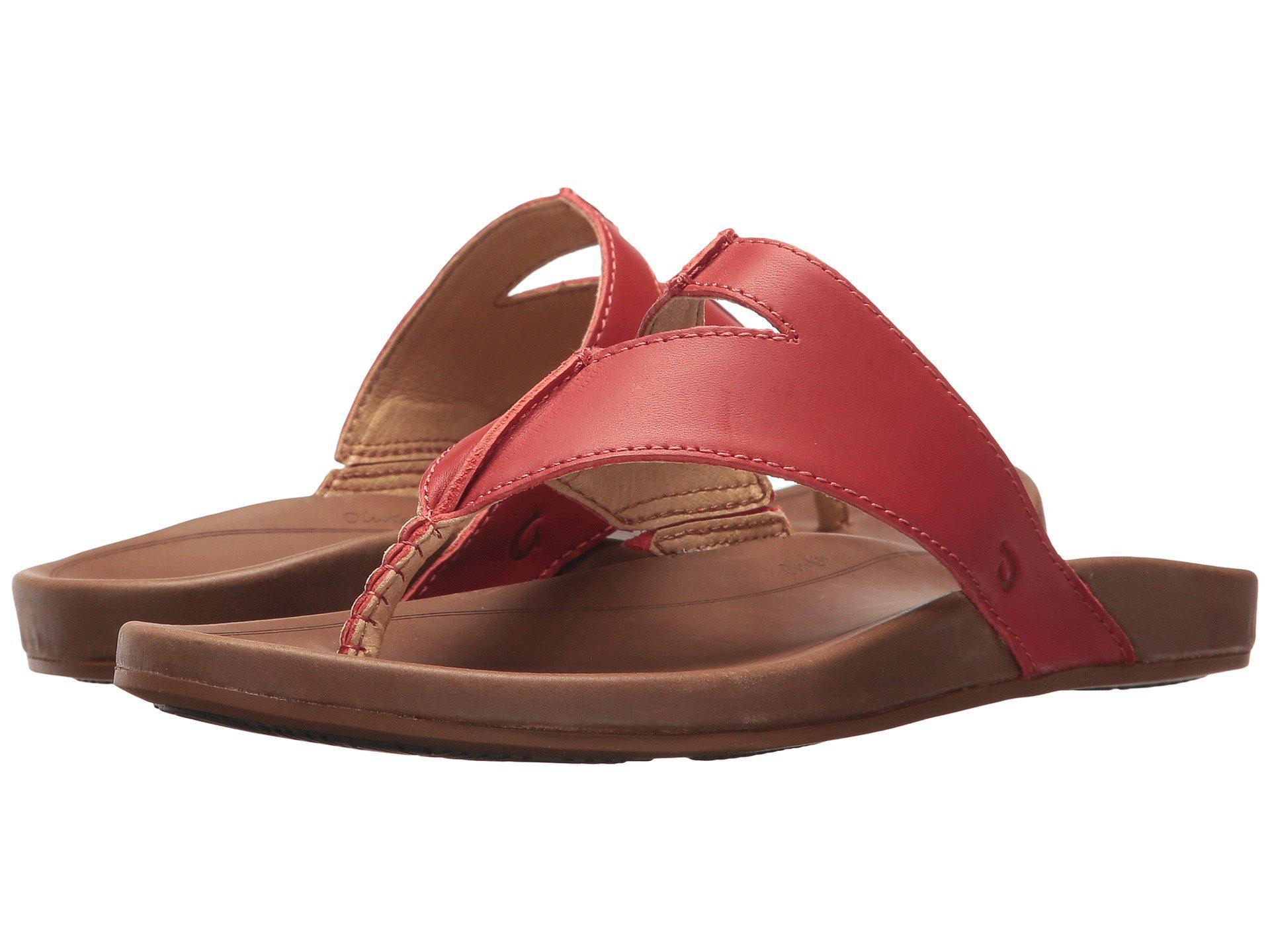 a088bc38e728 Lyst - Olukai Lala (black tan) Women s Sandals
