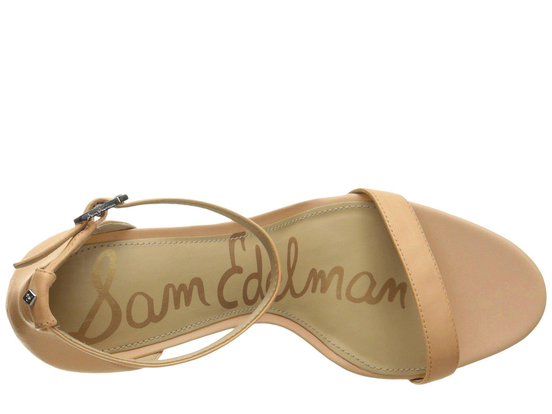00b175d13f60 Sam Edelman - Natural Patti Strappy Sandal Heel (light Gold Leather) High  Heels -. View fullscreen