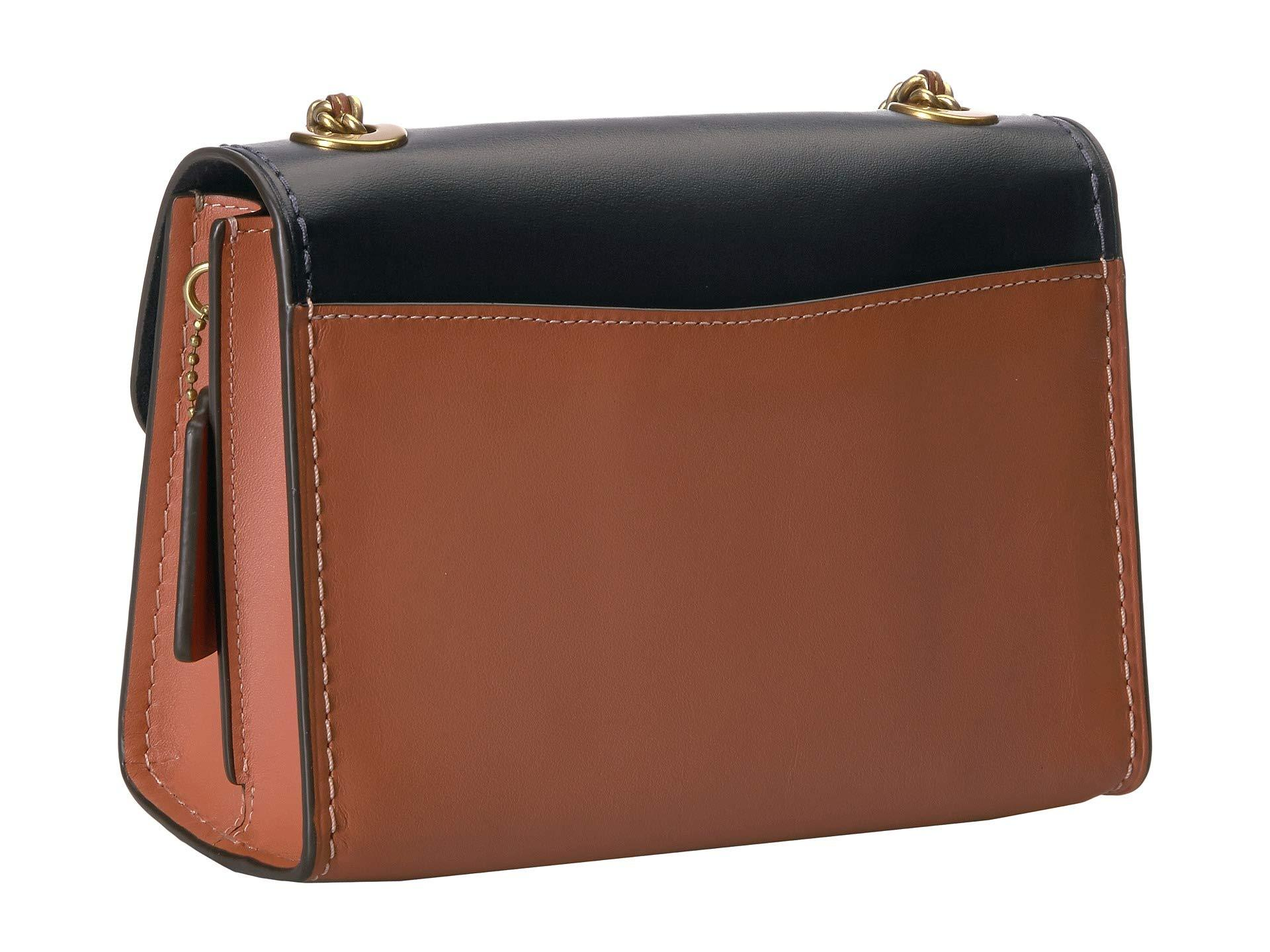 0acb20a79 COACH - Multicolor Coated Canvas Signature Color Block With Pocket Parker  18 (tan/ink. View fullscreen