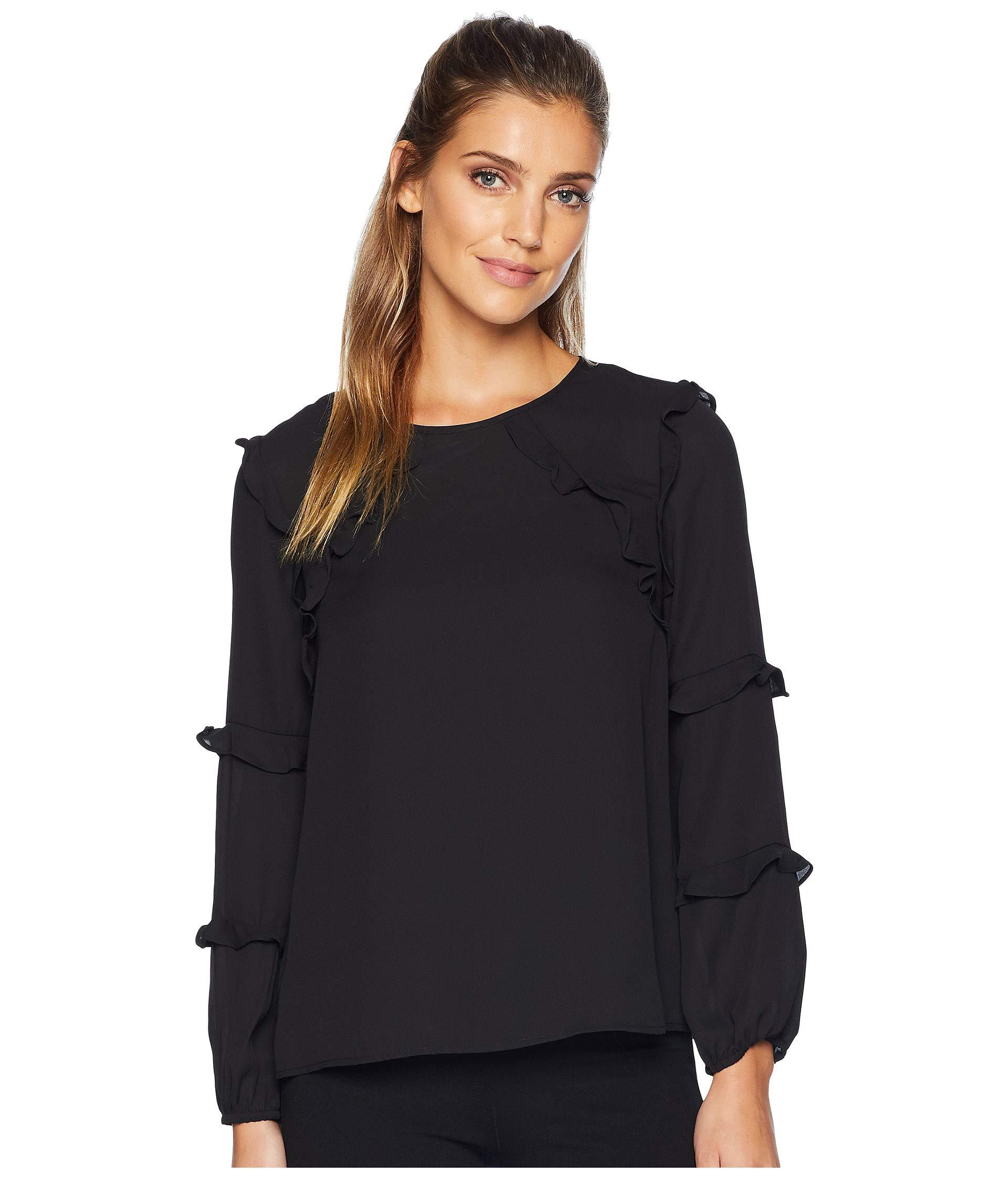 a791af1a15344 Lyst - Cece Long Sleeve Tiered Ruffle Blouse (rich Black) Women s ...