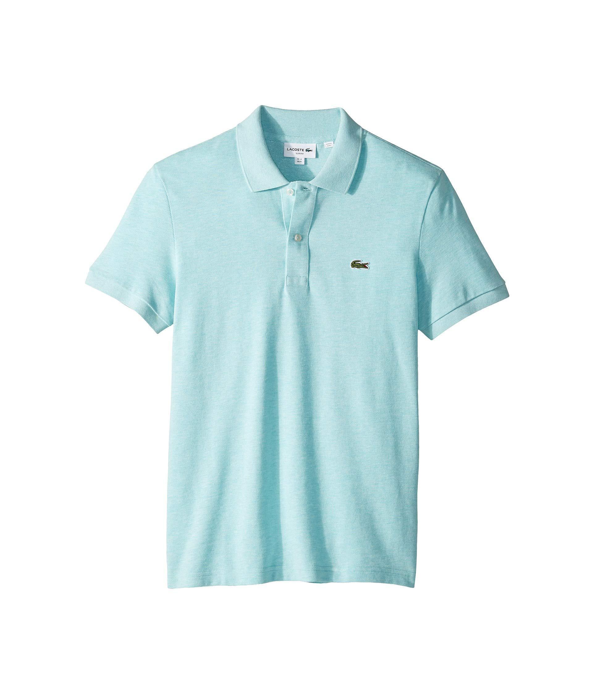 reputable site 347e1 fbd16 Lacoste Short Sleeve Slim Fit Pique Polo (flamingo) Men's ...