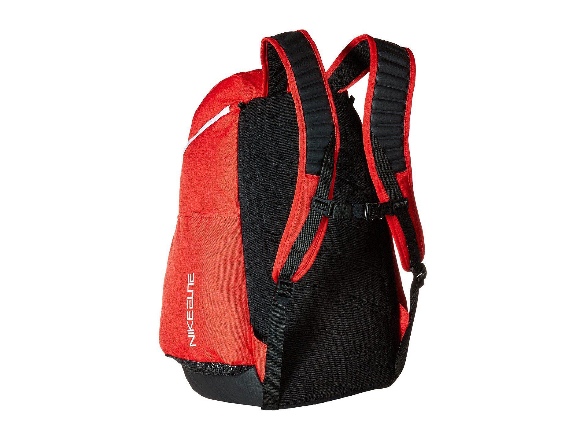 red nike hoops elite max air team backpack