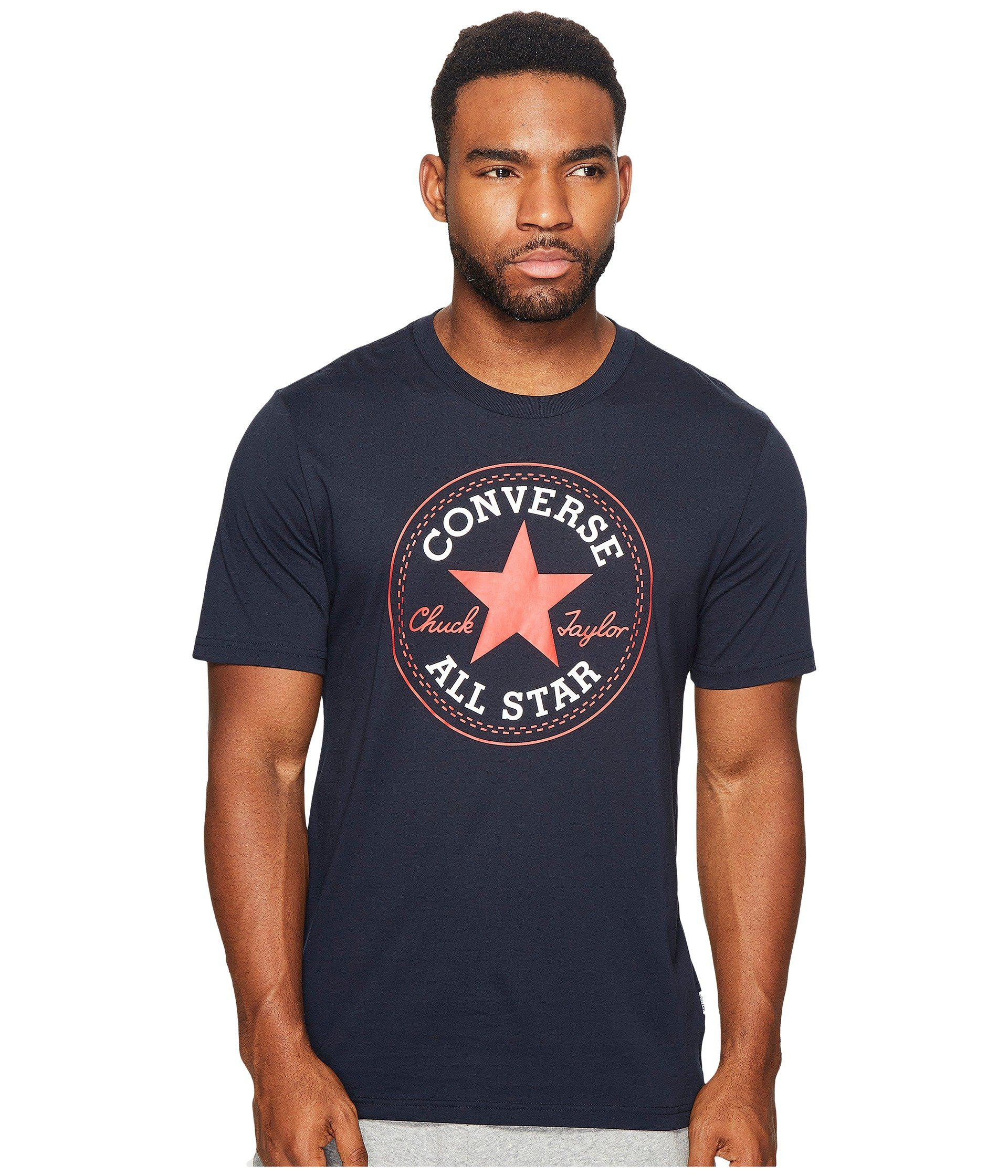 Lyst - Converse Core Chuck Patch Tee (obsidian) Men s T Shirt in ... 58313d9820