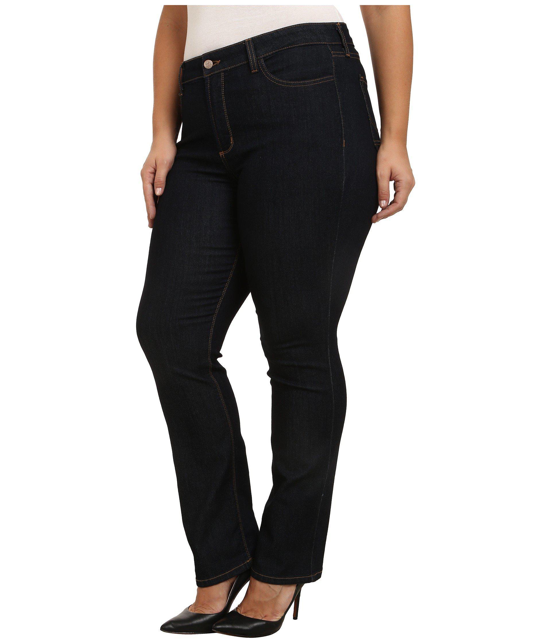 de27b58c98b Lyst - NYDJ Plus Size Marilyn Straight Contrast Stitching In Dark Enzyme ( dark Enzyme) Women s Jeans in Blue