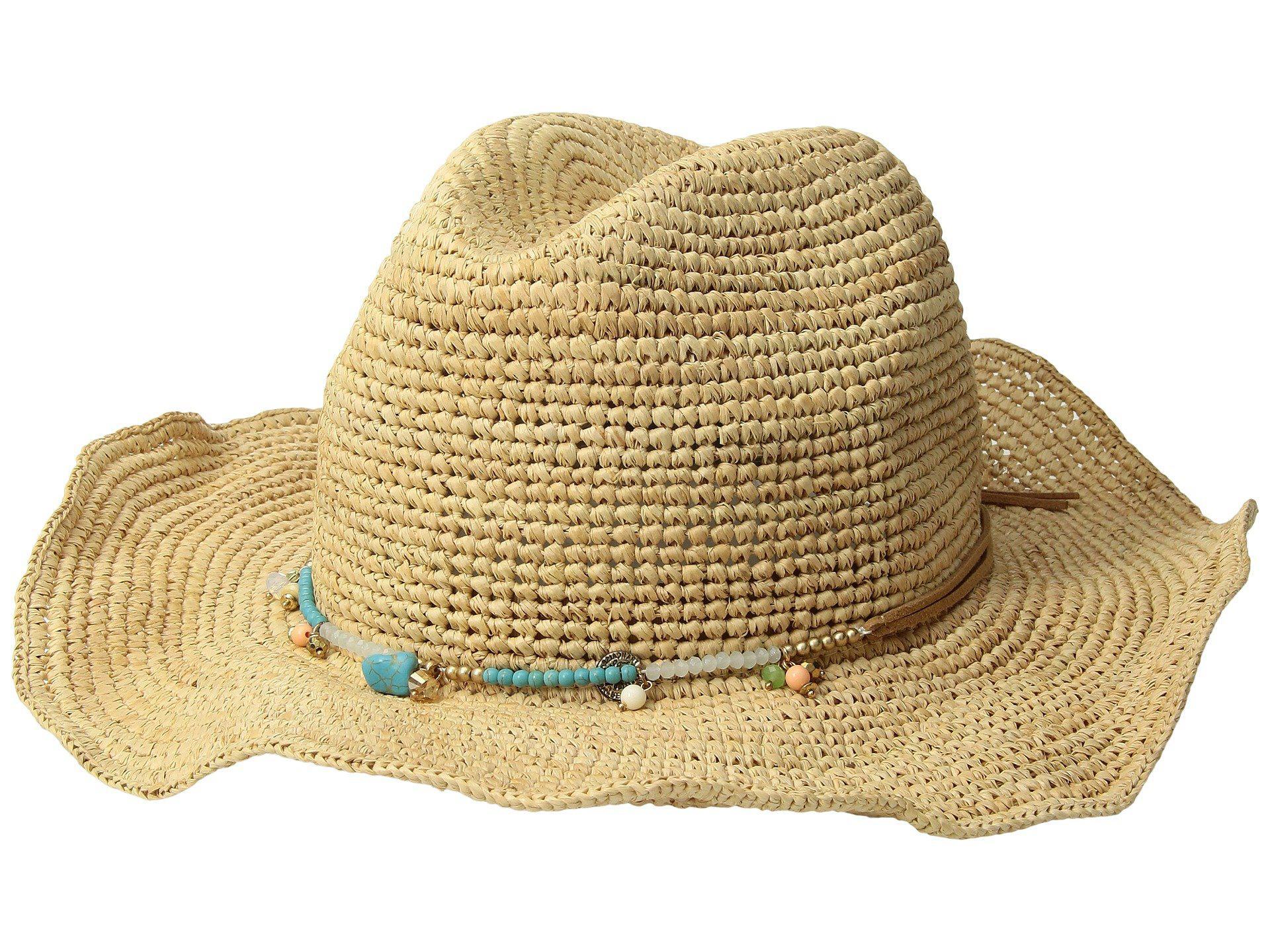 Lyst - San Diego Hat Company Rhc1090os Crochet Raffia W  Beaded Trim ... c77478e36cbf