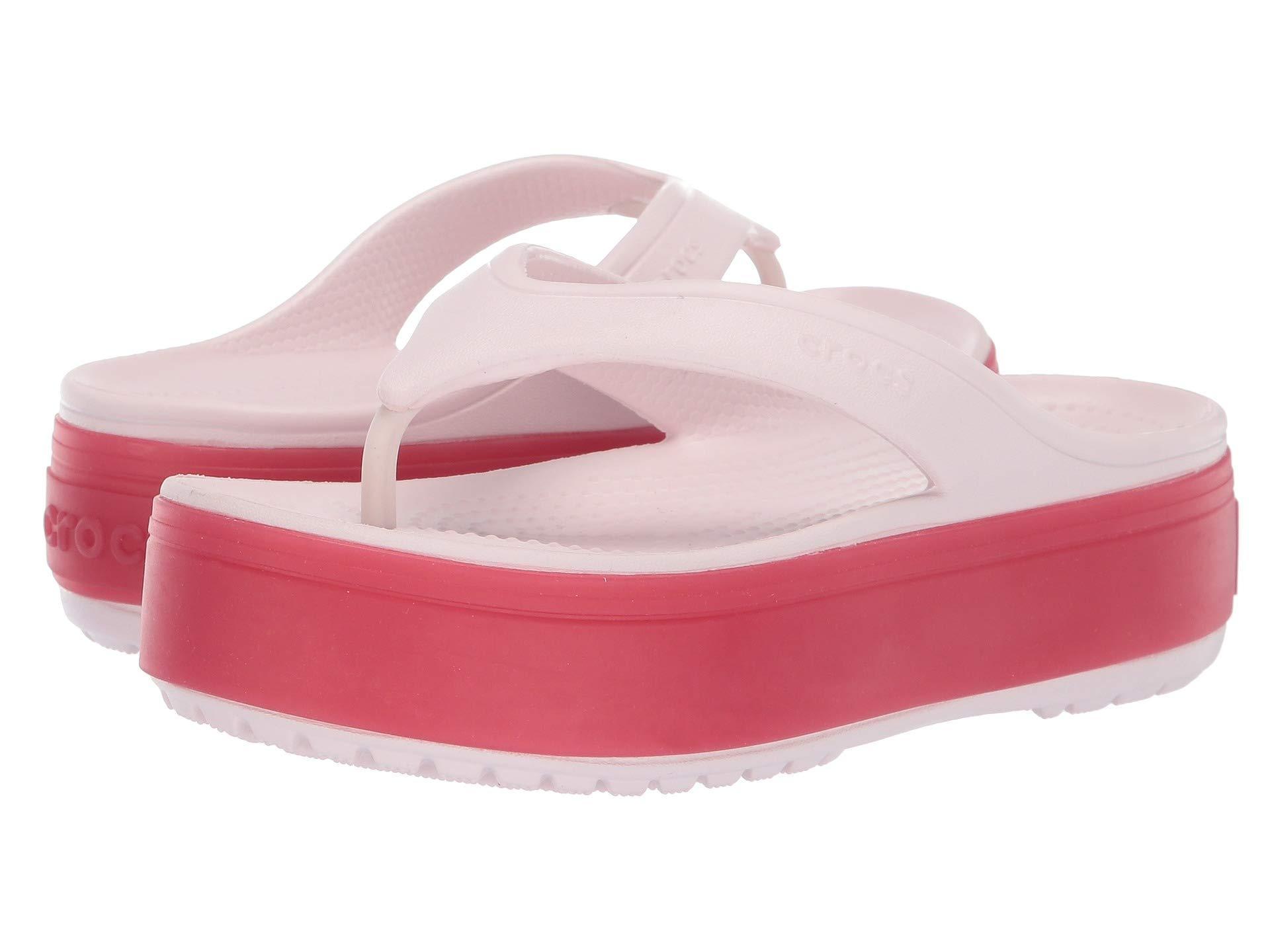 65127cba2a50 Lyst - Crocs™ Crocband Platform Flip (light Grey rose) Sandals in ...