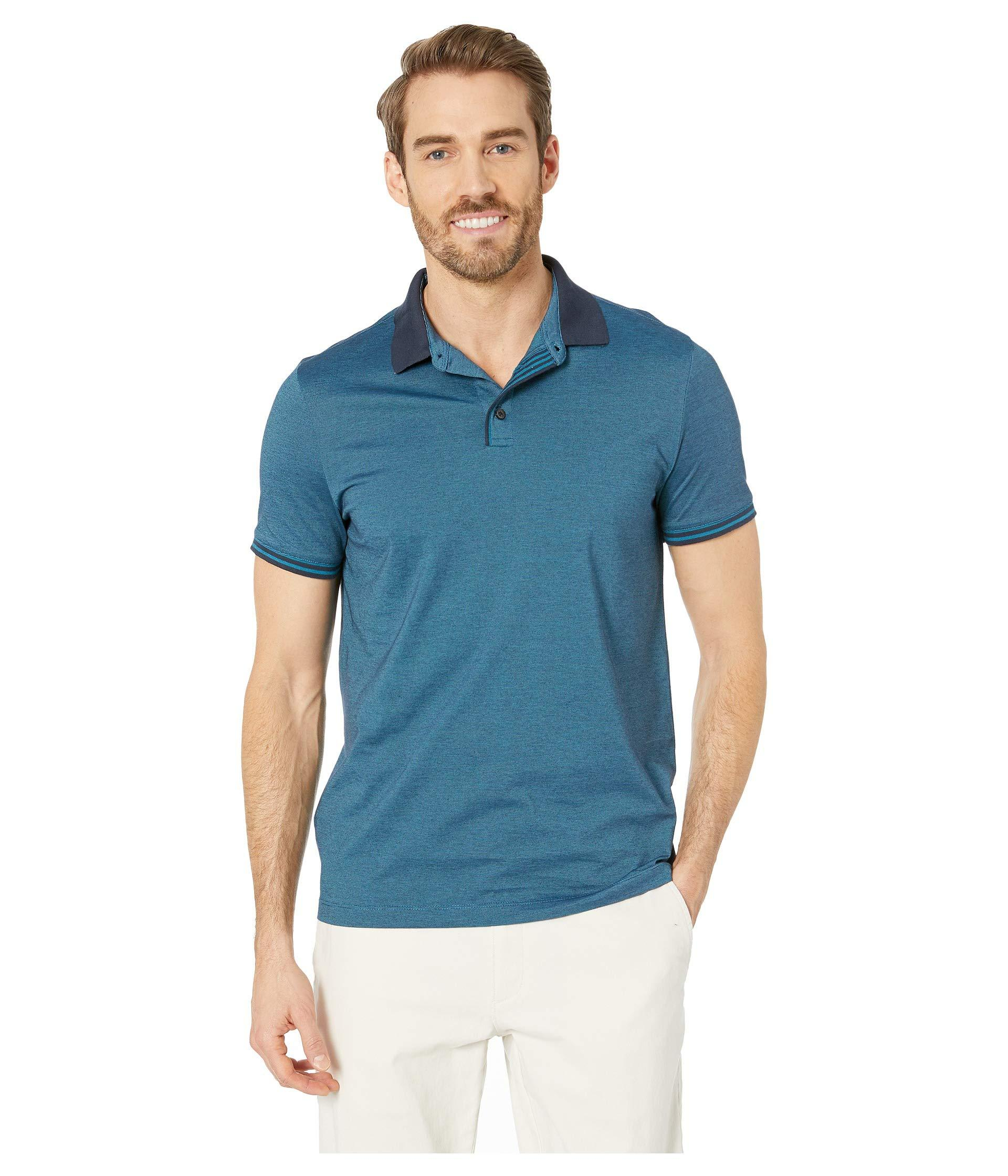 a1fce72390 Lyst - Perry Ellis Essential End On End Polo (dark Sapphire 1) Men s ...