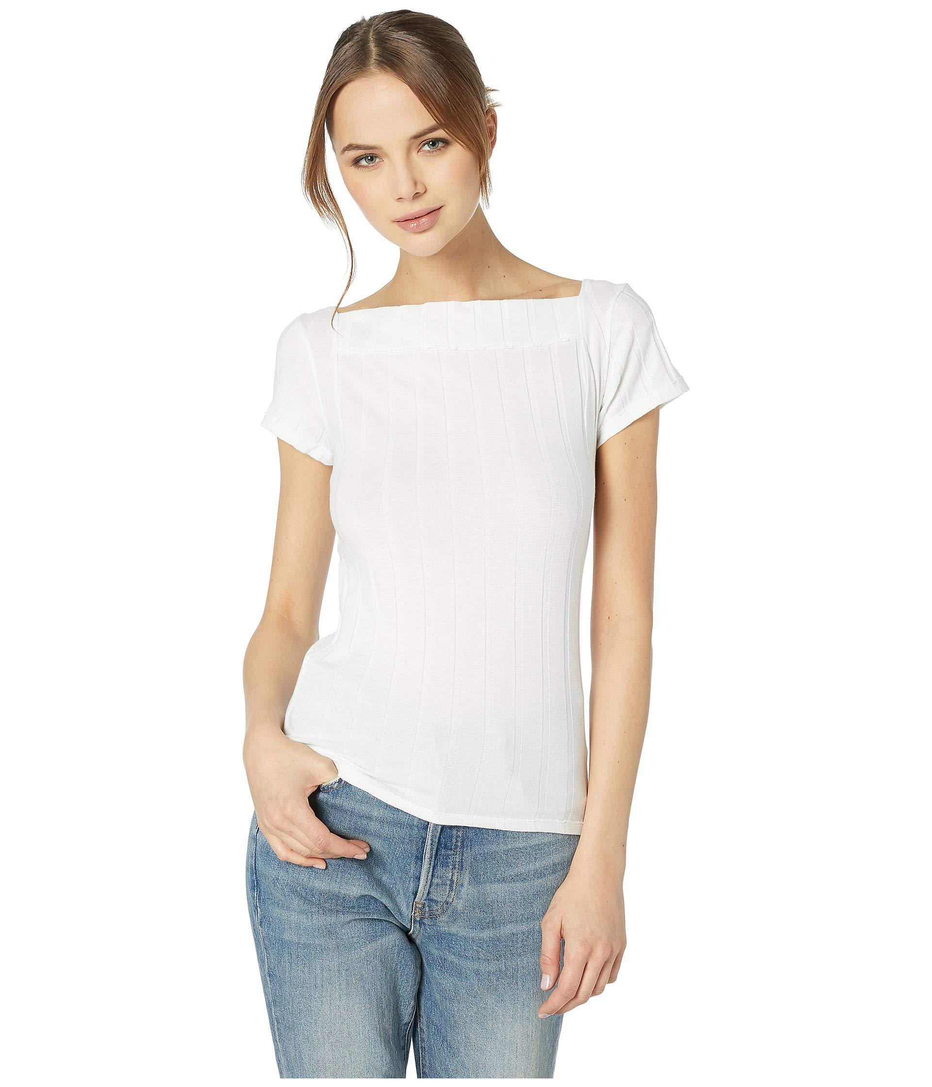 95a98ffb89ab0 Lyst - Free People Ahoy Solid Tee (ivory) Women s T Shirt in White