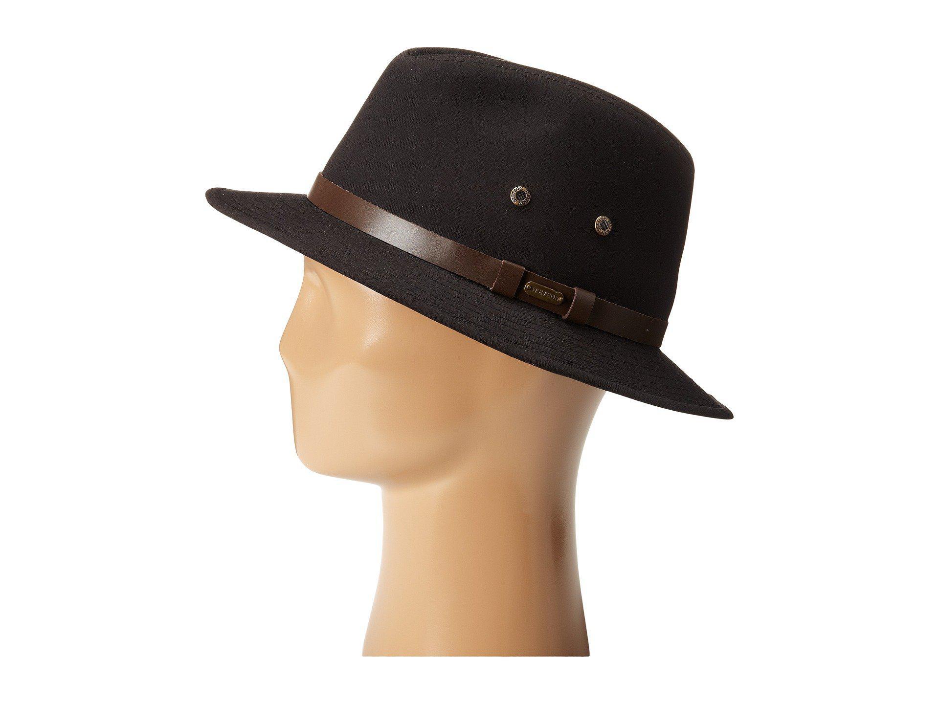 4bbd89ddd57b4 Stetson Gable Rain Safari (khaki) Caps in Black for Men - Lyst