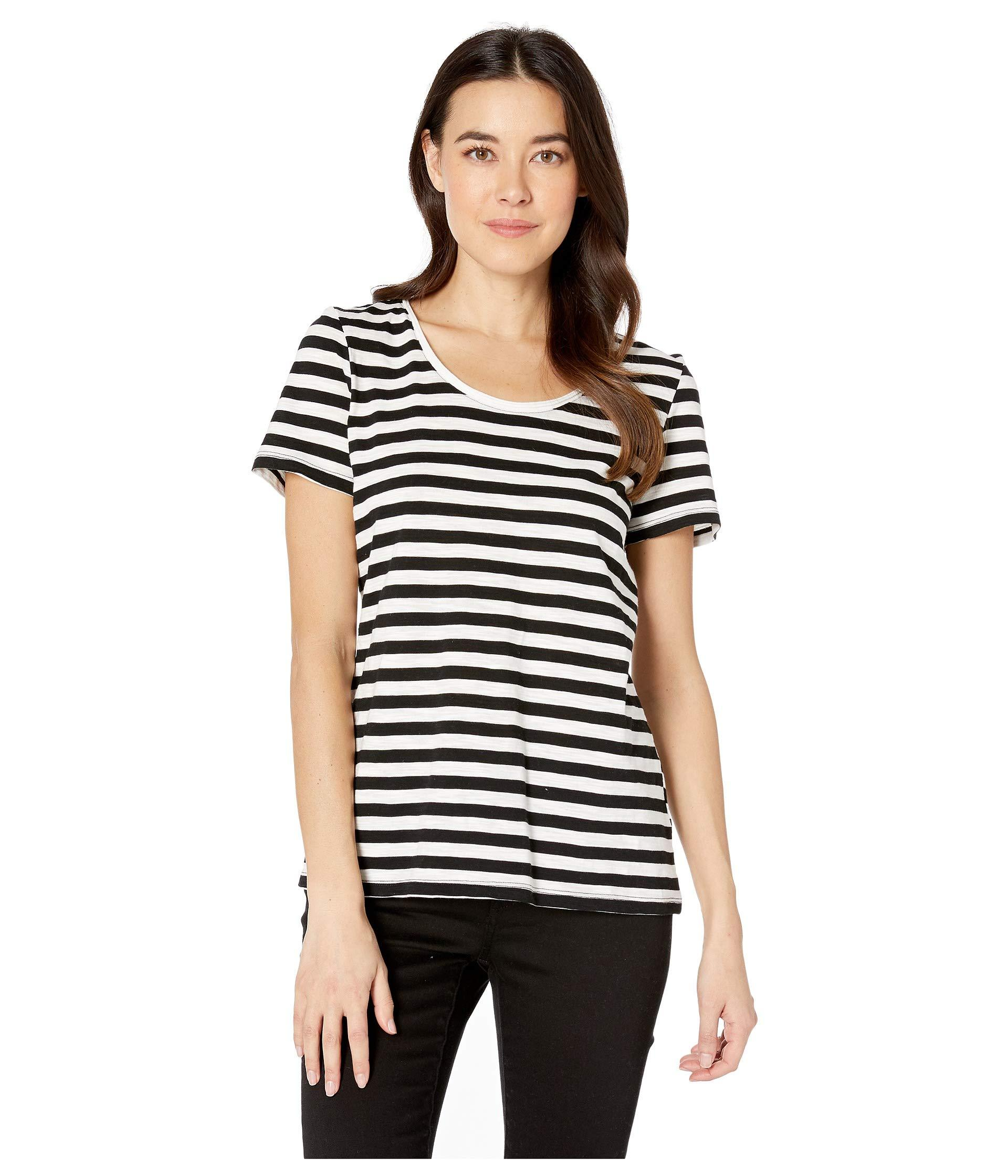 b86fe2c8a1 Lyst - Two By Vince Camuto Short Sleeve Amour City Stripe Scoop Neck ...