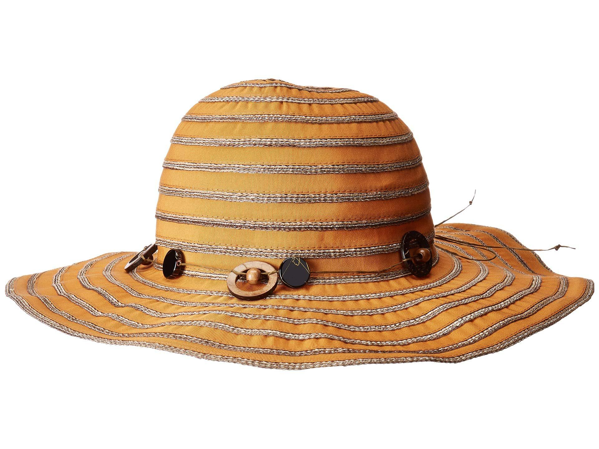 b5b6c4df2da26 Lyst - San Diego Hat Company Rbm5558 Ribbon Sun Brim Hat (pine) Caps