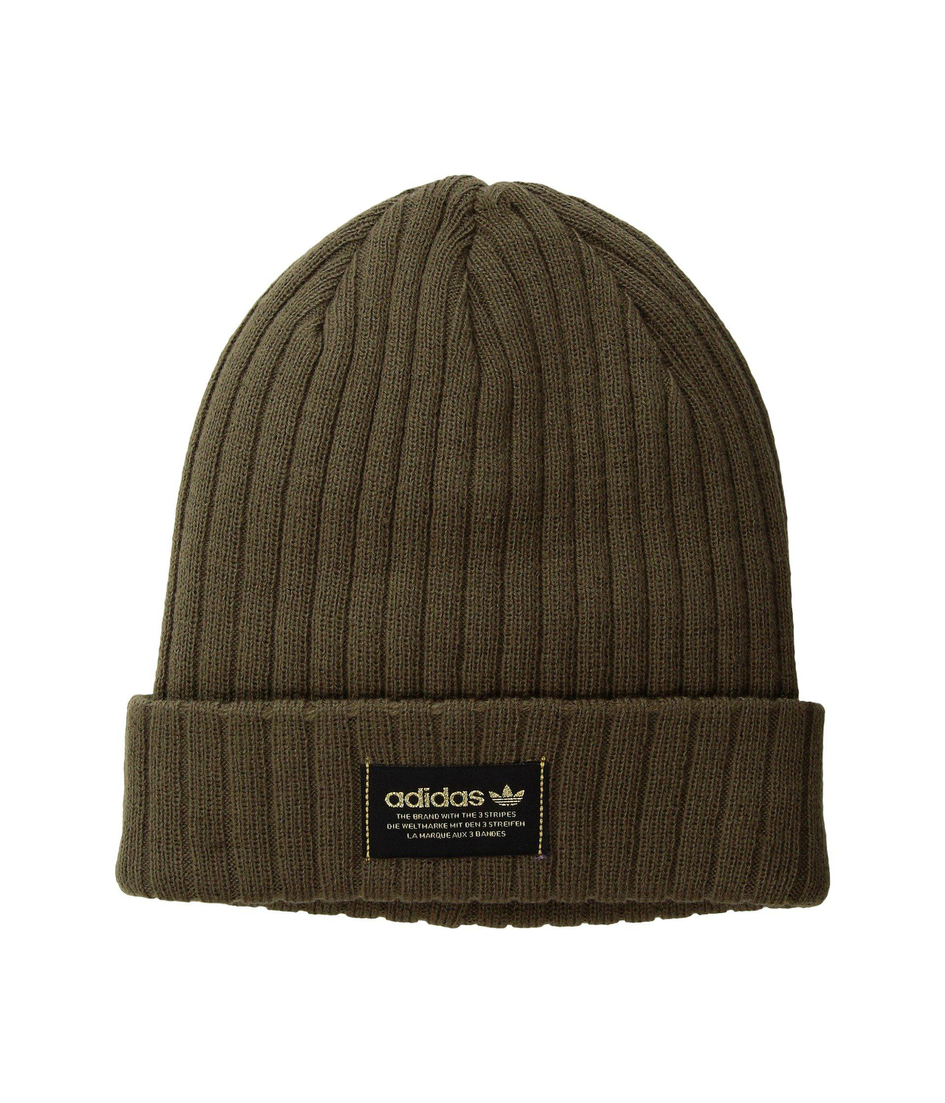 2fbefd08bcf99 ... cheap lyst adidas originals originals wide rib knit beanie in green for  men 38bd7 c5c90 ...