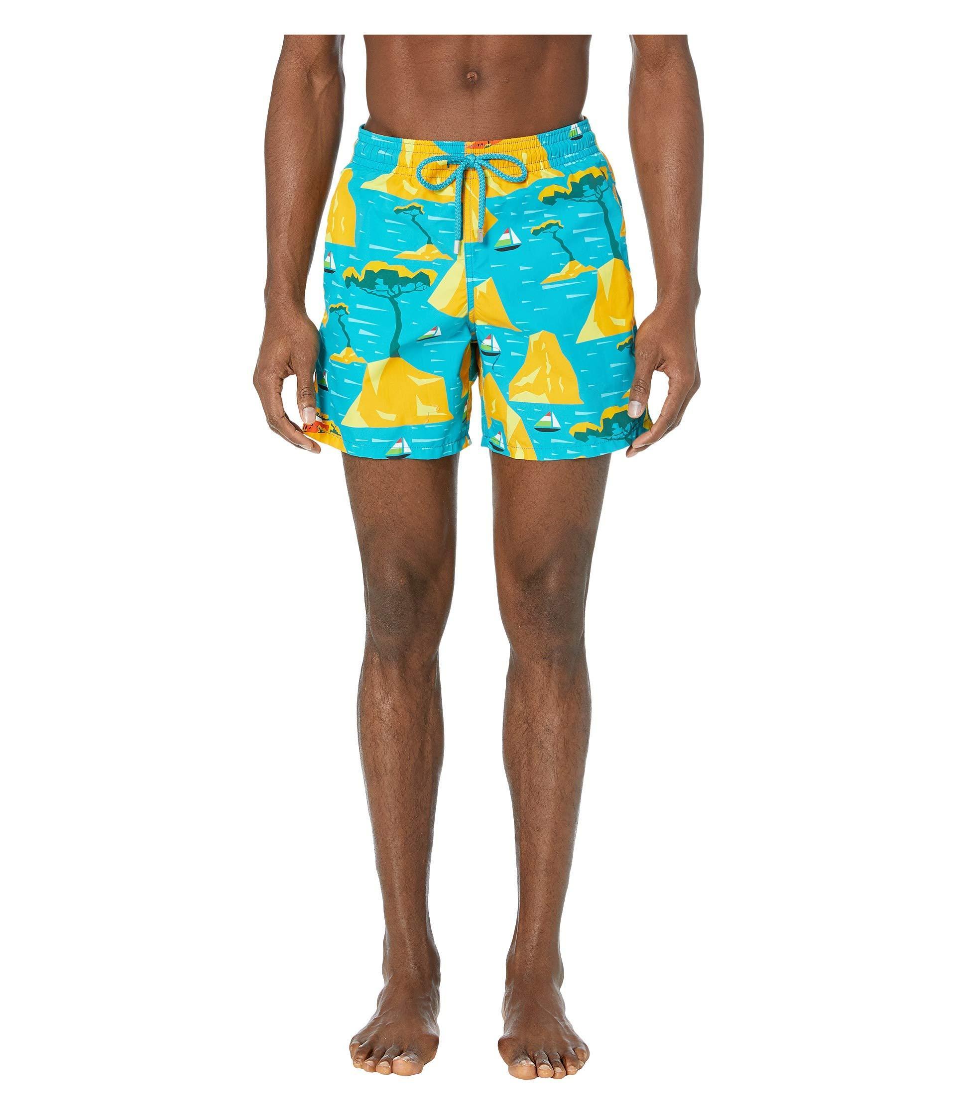 716d87498e Lyst - Vilebrequin Capri Moorea Swim Trunks (bahama Blue) Men's ...