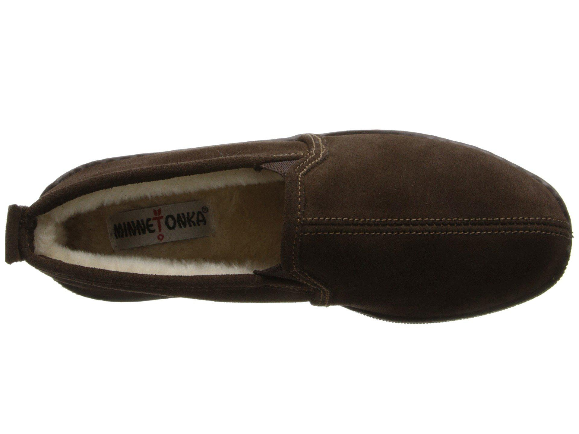 c075fe65d575 Minnetonka - Pile Lined Romeo Slipper (brown Suede) Men s Shoes for Men -  Lyst. View fullscreen