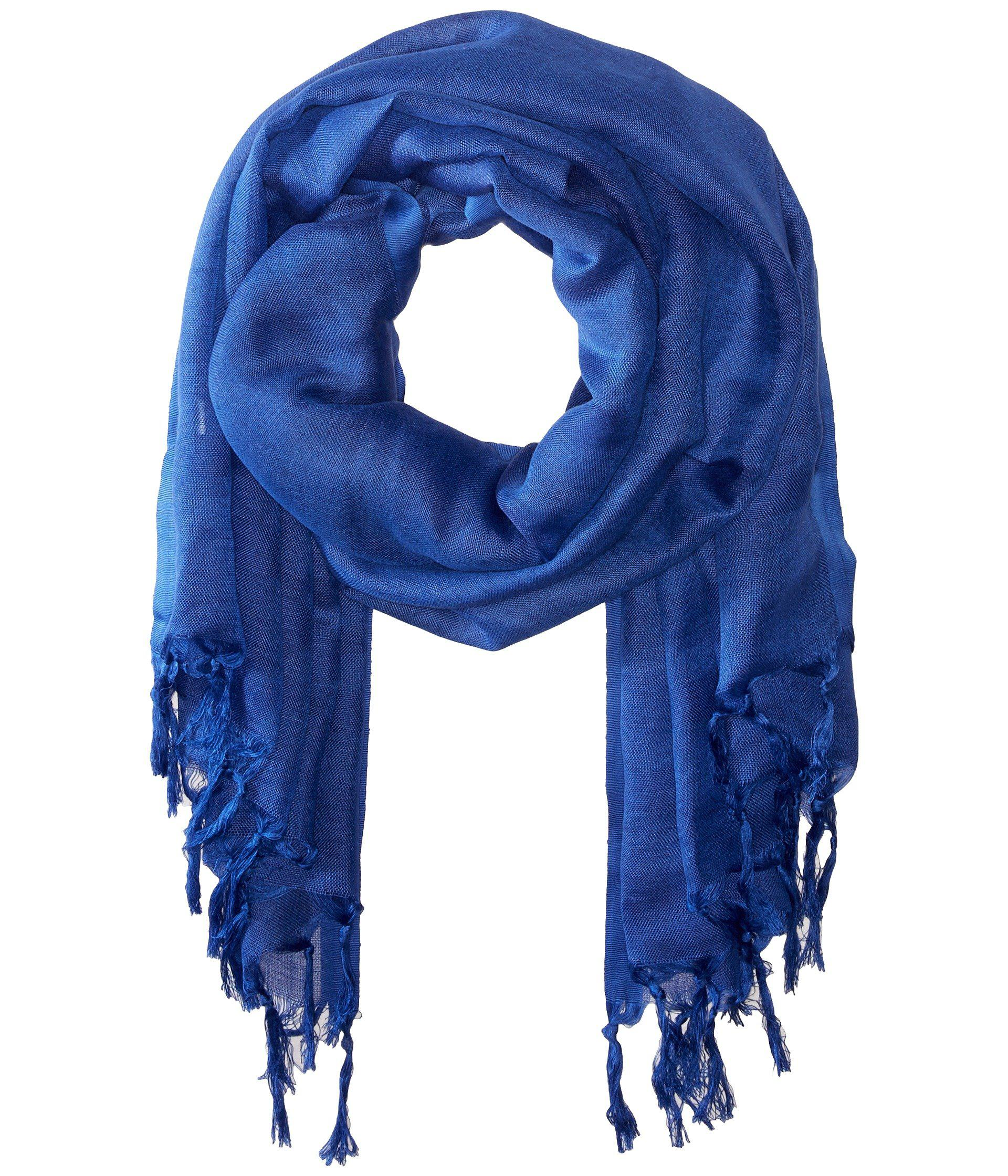 Love Quotes Scarf Love Quotes Linen Tassel Scarf In Blue  Lyst
