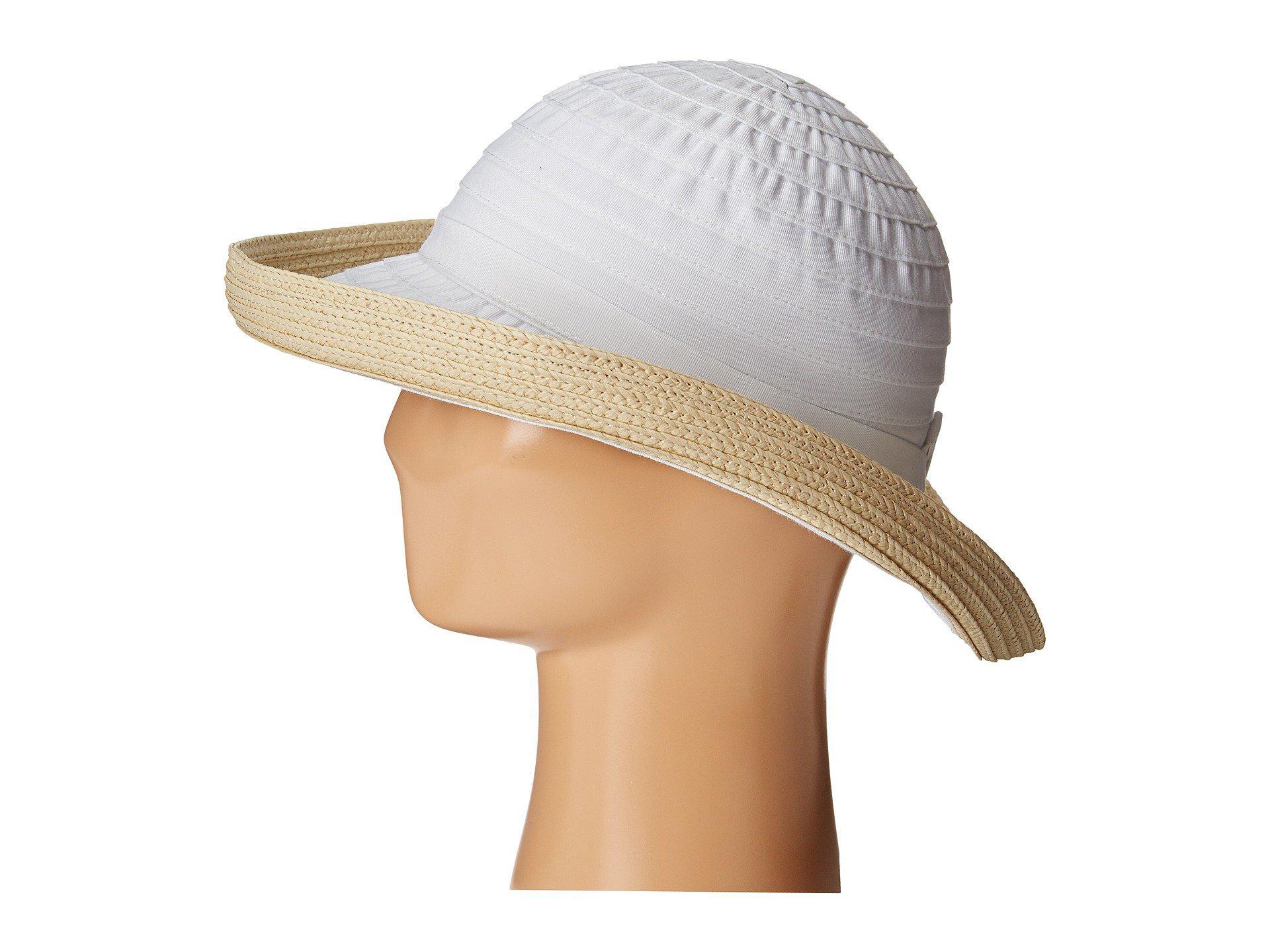 a52524b06f5 Lyst - San Diego Hat Company Rbm5554 Ribbon Kettle Brim (white) Caps ...