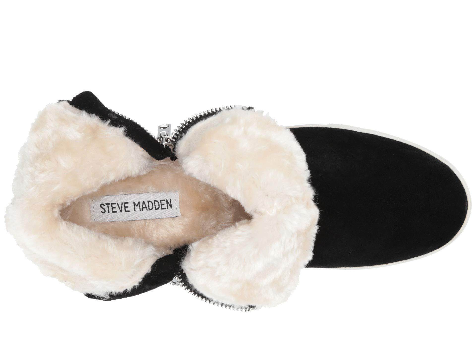 f07175cfebd9 Steve Madden - Wanda Wedge Sneaker (black Suede) Women s Wedge Shoes -  Lyst. View fullscreen