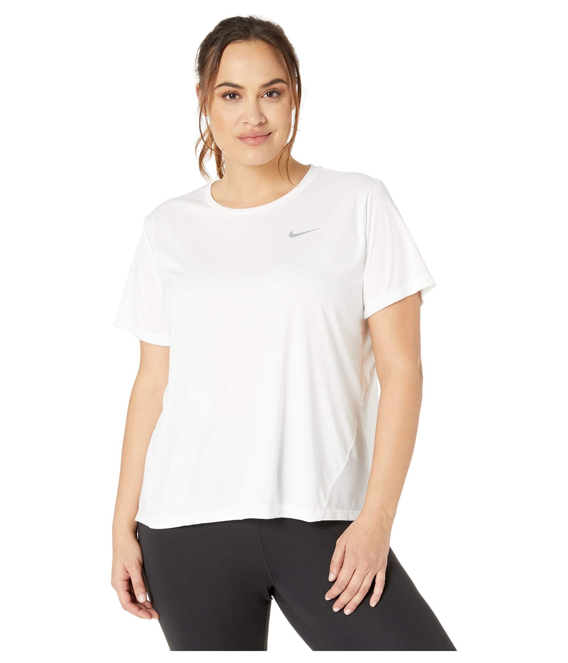9c1fc8dc Nike. White Dry Miler Top Short Sleeve (size 1x-3x) (gunsmoke/heather/reflective  Silver) Women's Clothing