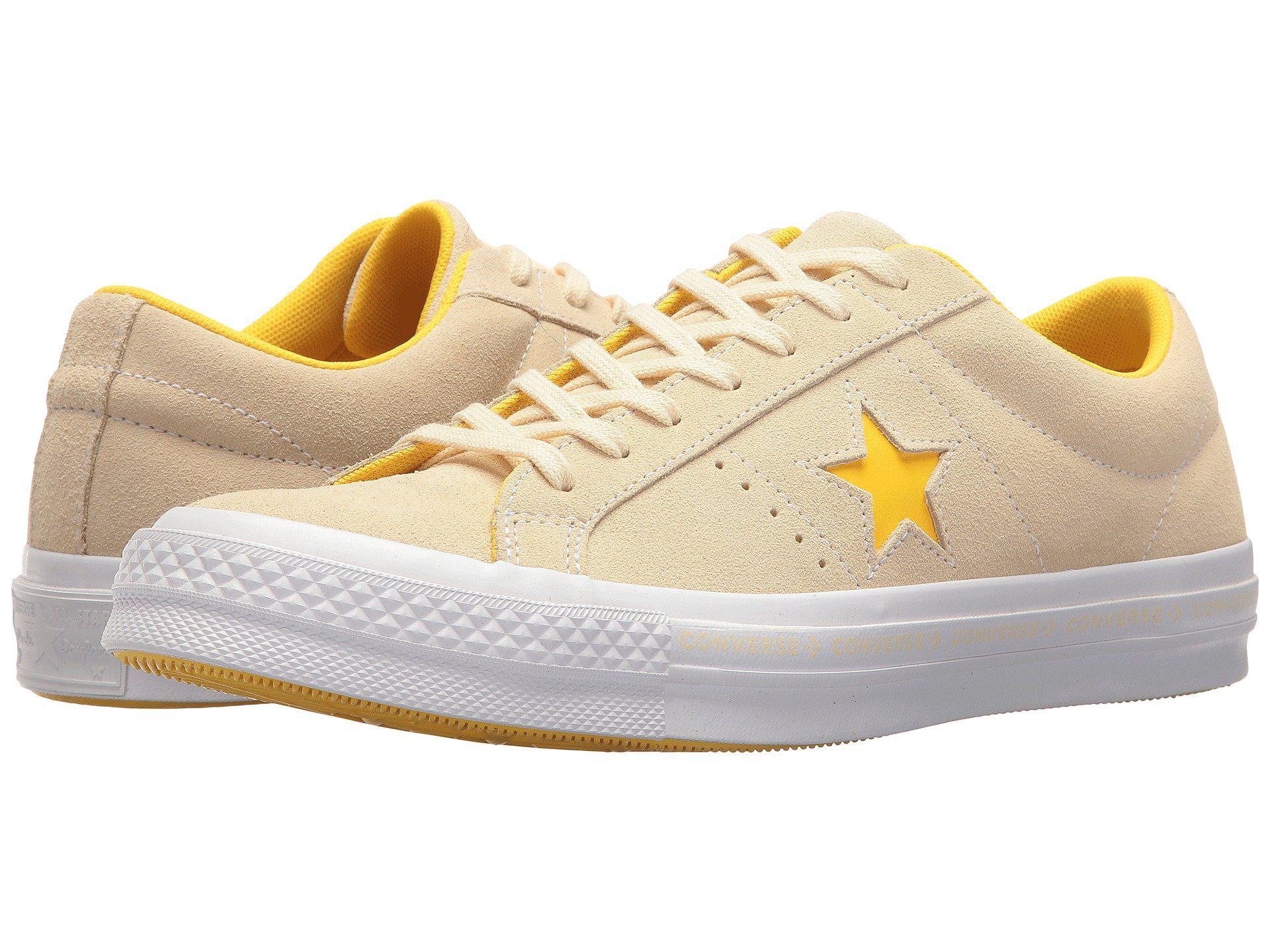 Converse ONE STAR - OX PINESTRIPE - Trainers - vanilla/solar power/white 8JvDy0vL