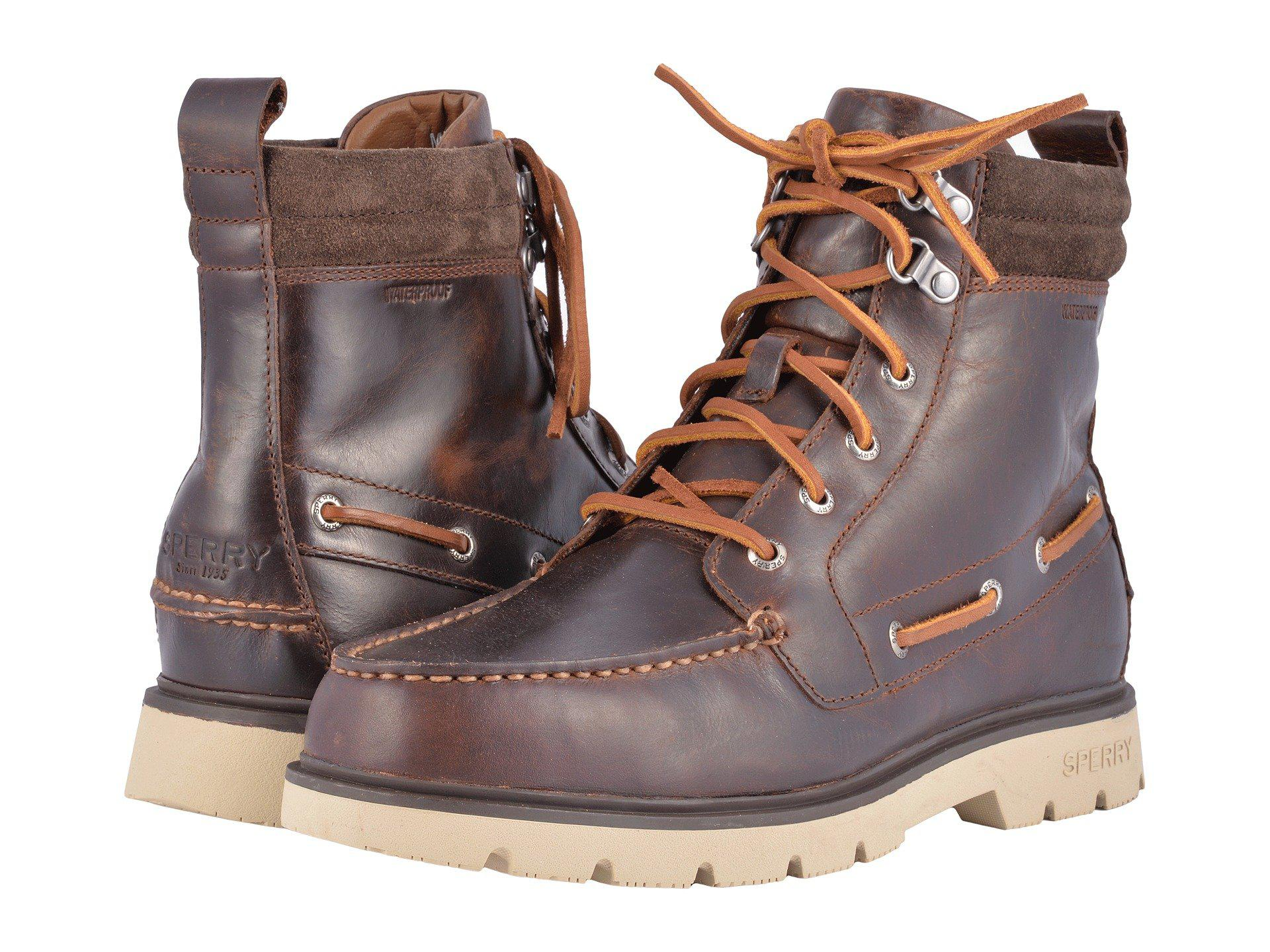 Sperry Top-Sider. Men's Brown A/o Lug Boot Wp