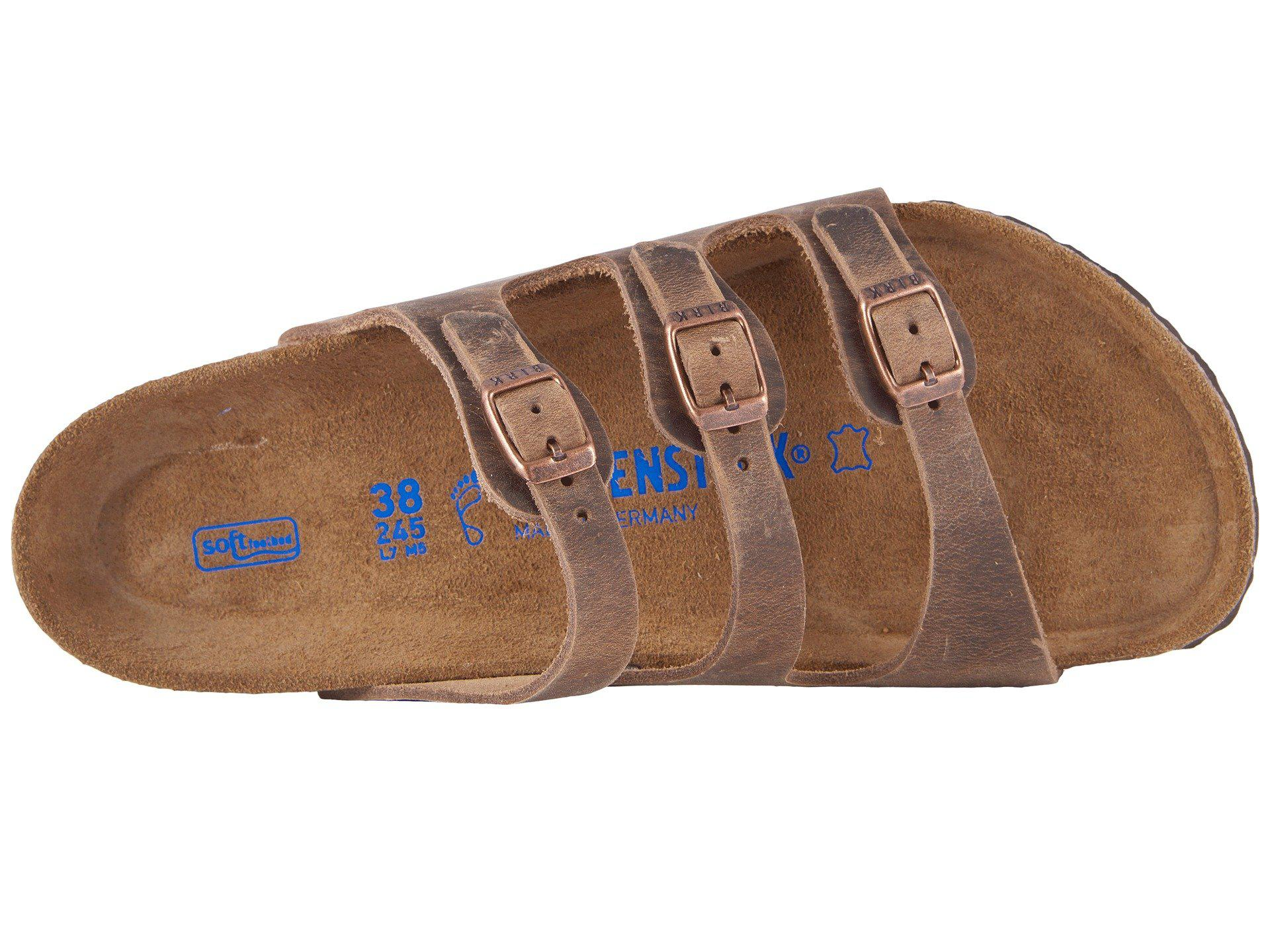 770b98700af1 Birkenstock - Brown Florida Soft Footbed - Leather (black Oiled Leather)  Women s Sandals -. View fullscreen