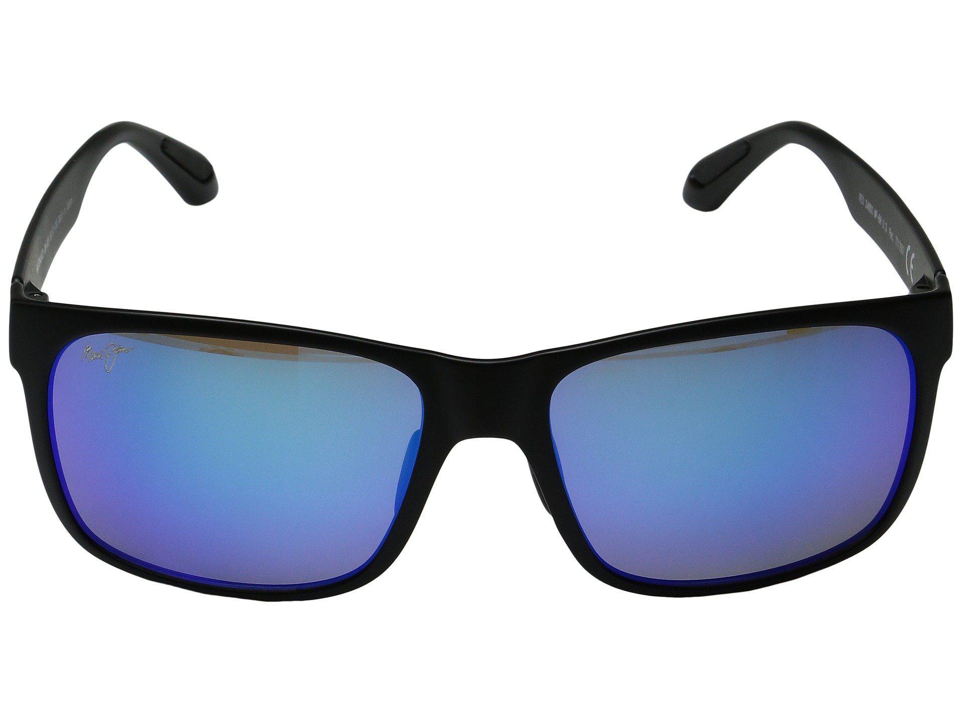 4ec4bf0d632e Maui Jim - Red Sands (matte Black/blue Hawaii) Fashion Sunglasses for Men.  View fullscreen