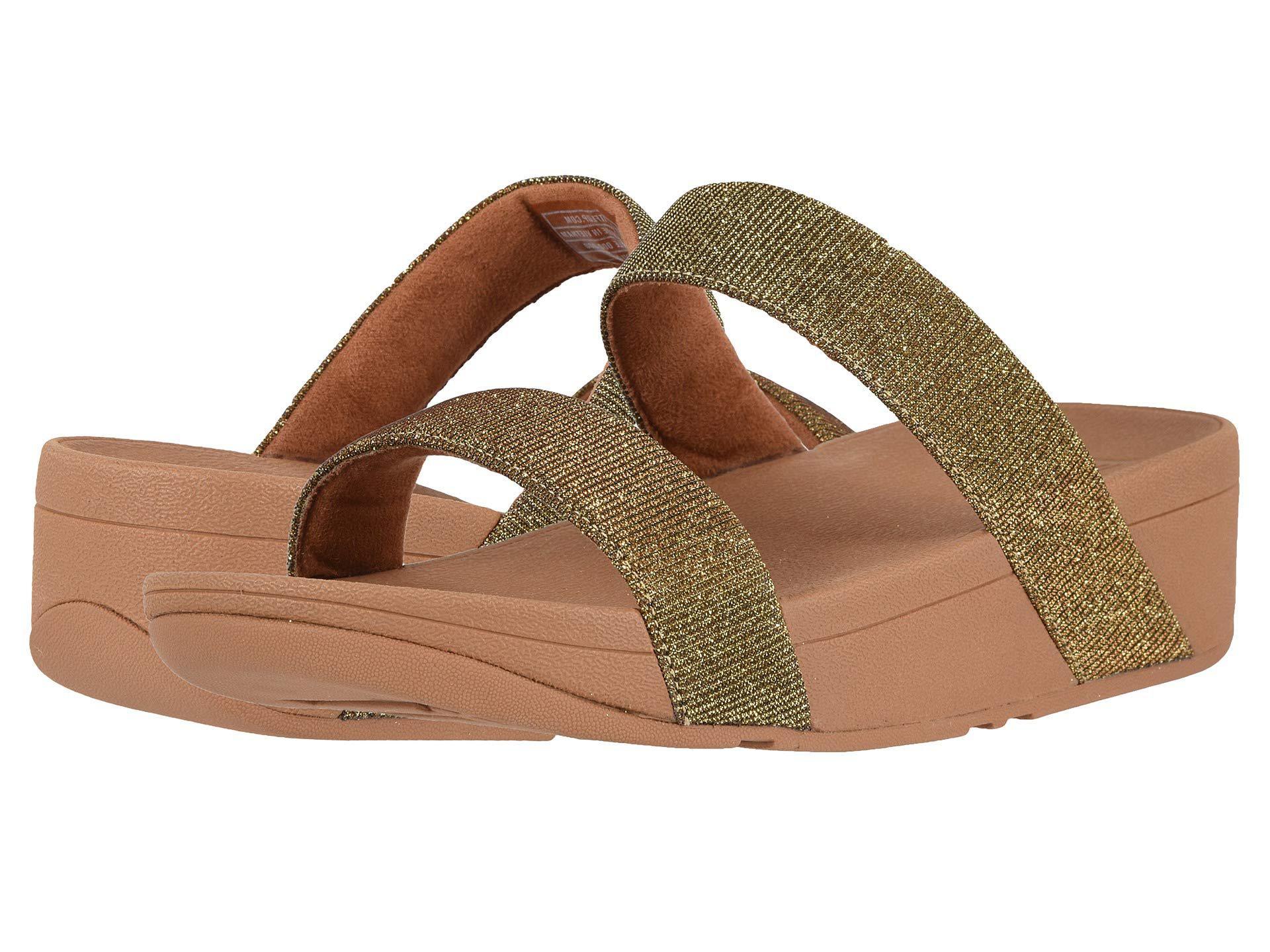 ba50f3aea011 Fitflop - Metallic Lottie Glitzy Slide (silver) Women s Shoes - Lyst. View  fullscreen