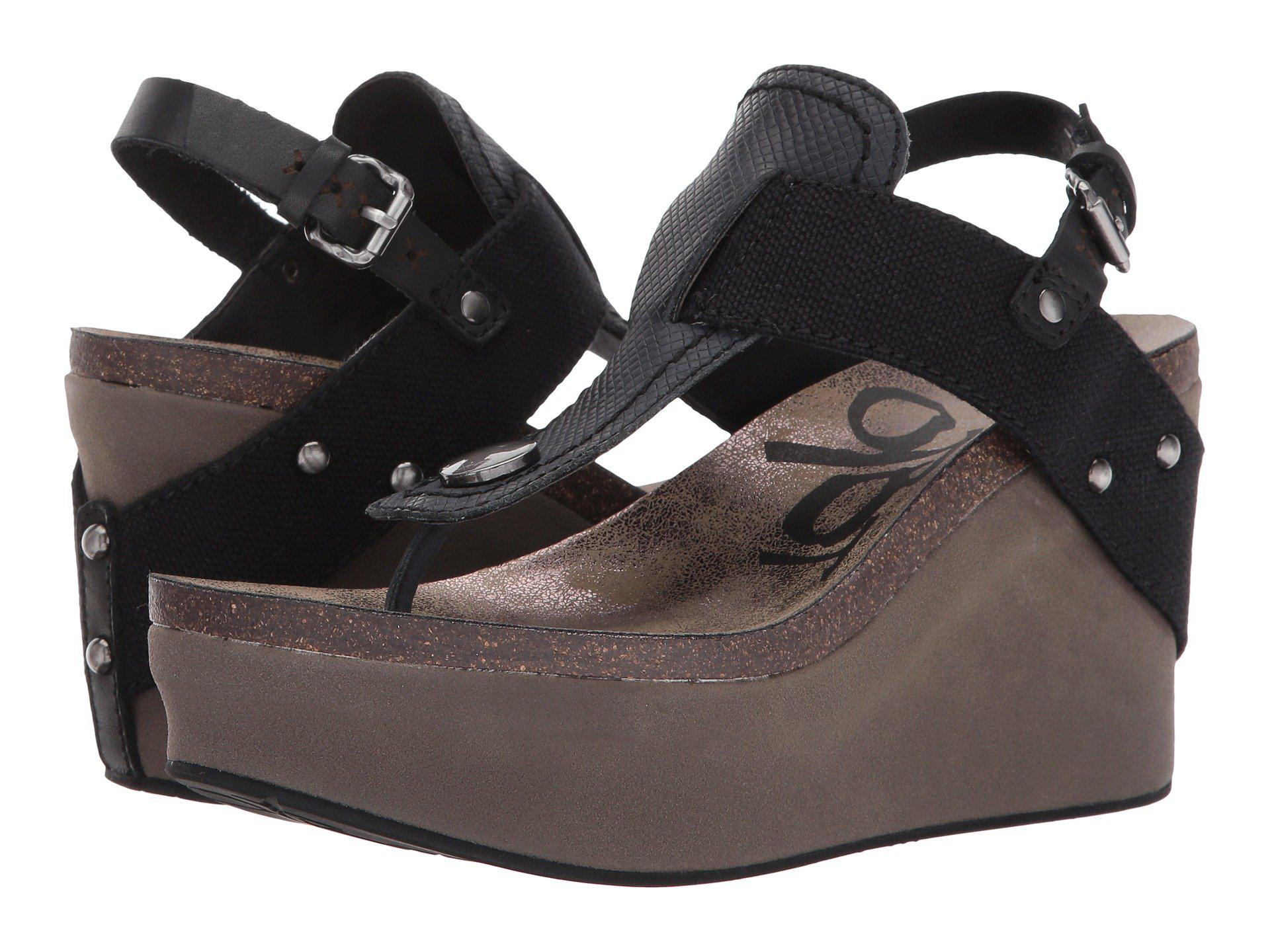 34a8a138134 Lyst - Otbt Joyride (copper) Women s Wedge Shoes in Black