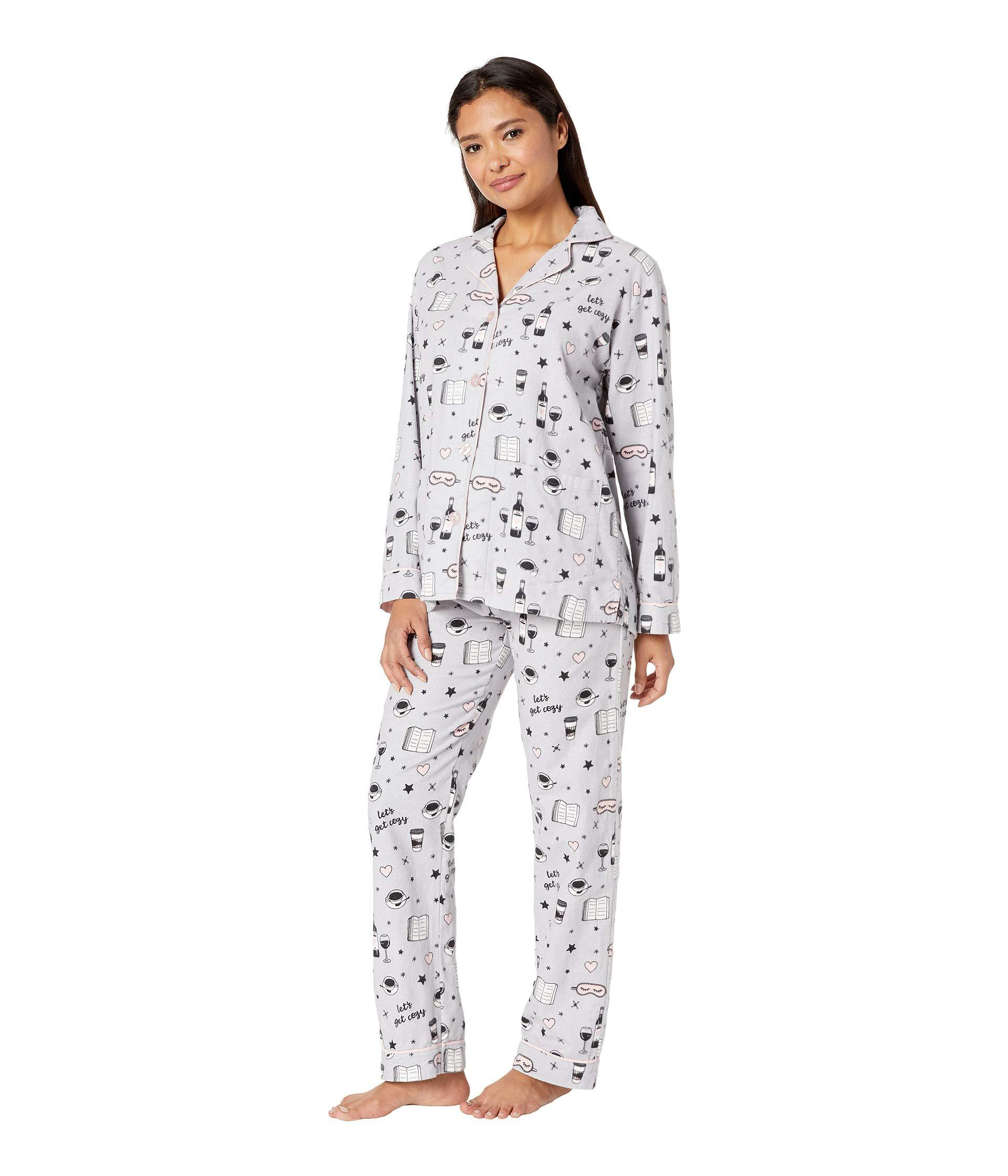 Lyst - Pj Salvage Let s Get Cozy Pj Set (light Grey) Women s Pajama Sets in  Gray 30b8a0acb