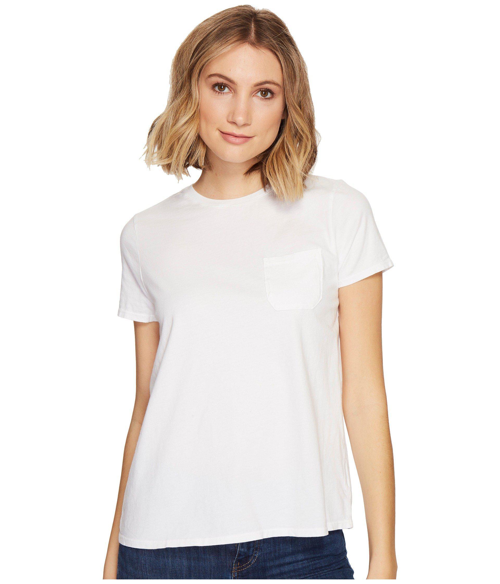 e960586b7ae Lyst - Richer Poorer Crew Pocket Tee (green) Women s T Shirt in White