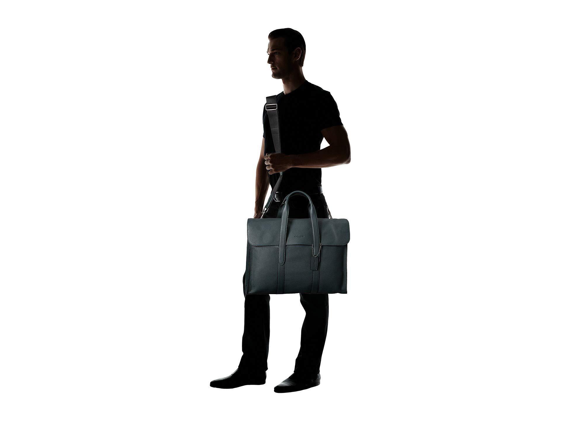 a1376da5c0 COACH - Metropolitan Portfoio In Refined Pebbled (green) Briefcase Bags for  Men - Lyst. View fullscreen