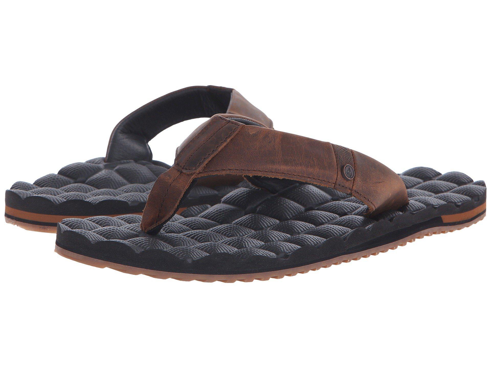 Volcom. Men's Brown Recliner Leather