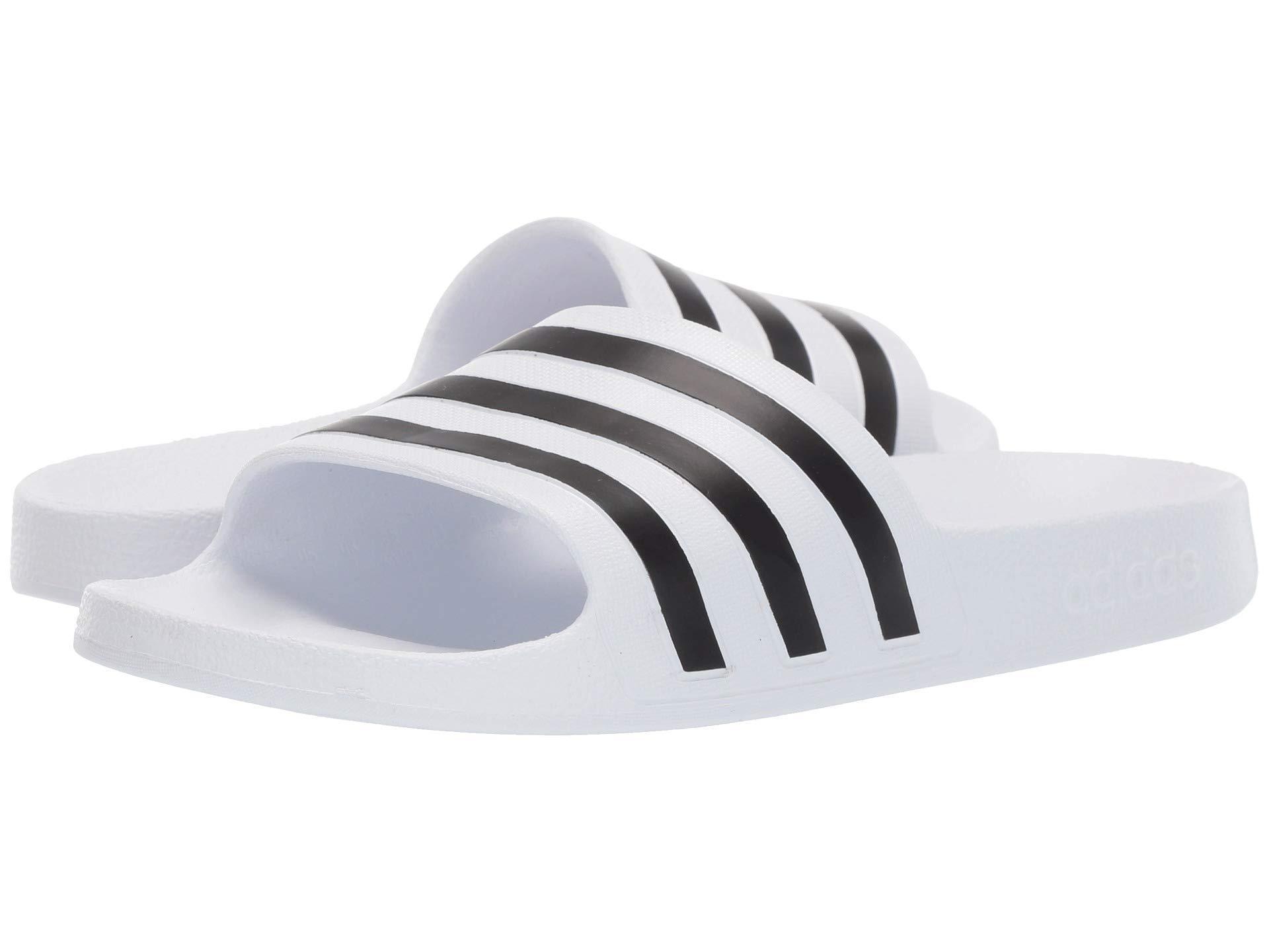 dcdd82ed9c17 Lyst - adidas Adilette Aqua (footwear White core Black footwear ...