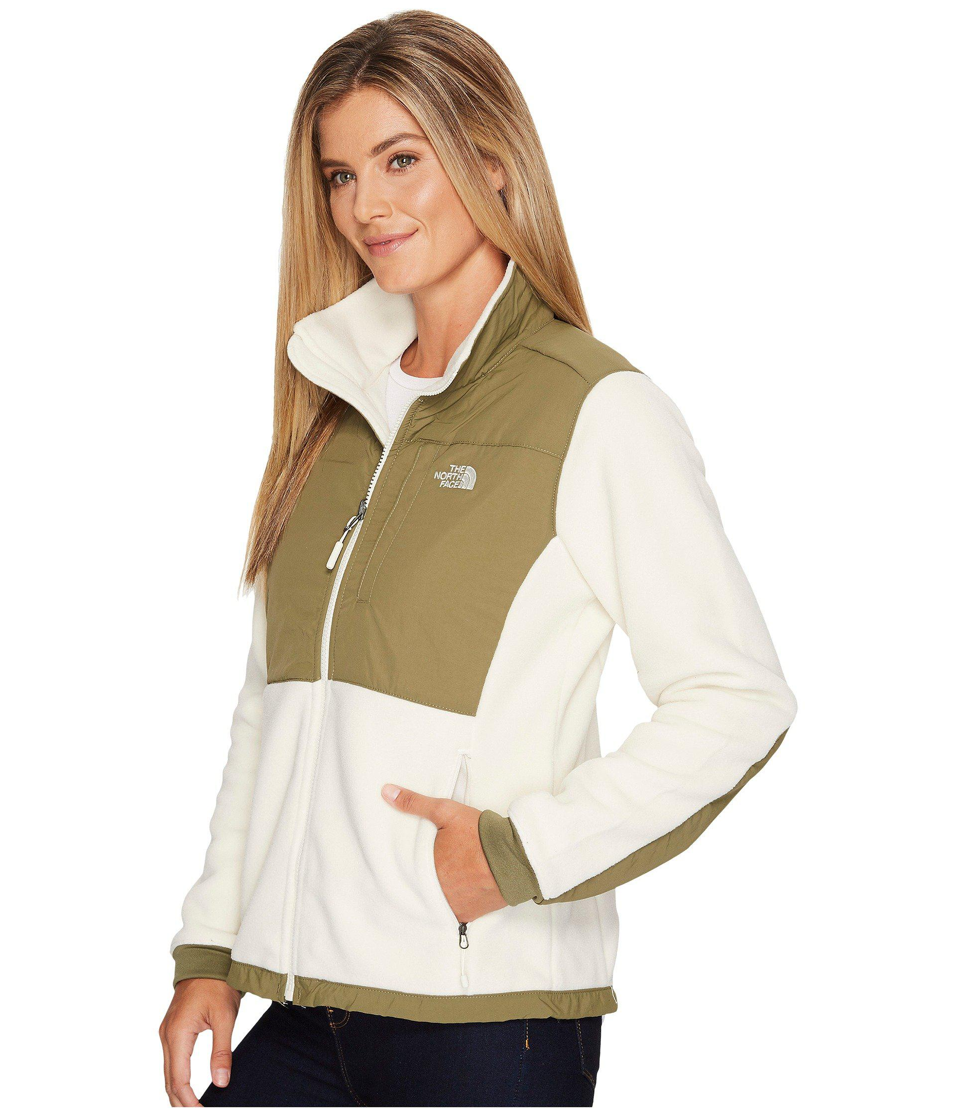 e0219982d71a The North Face - Denali 2 Jacket (vintage White burnt Olive Green) Women s.  View fullscreen