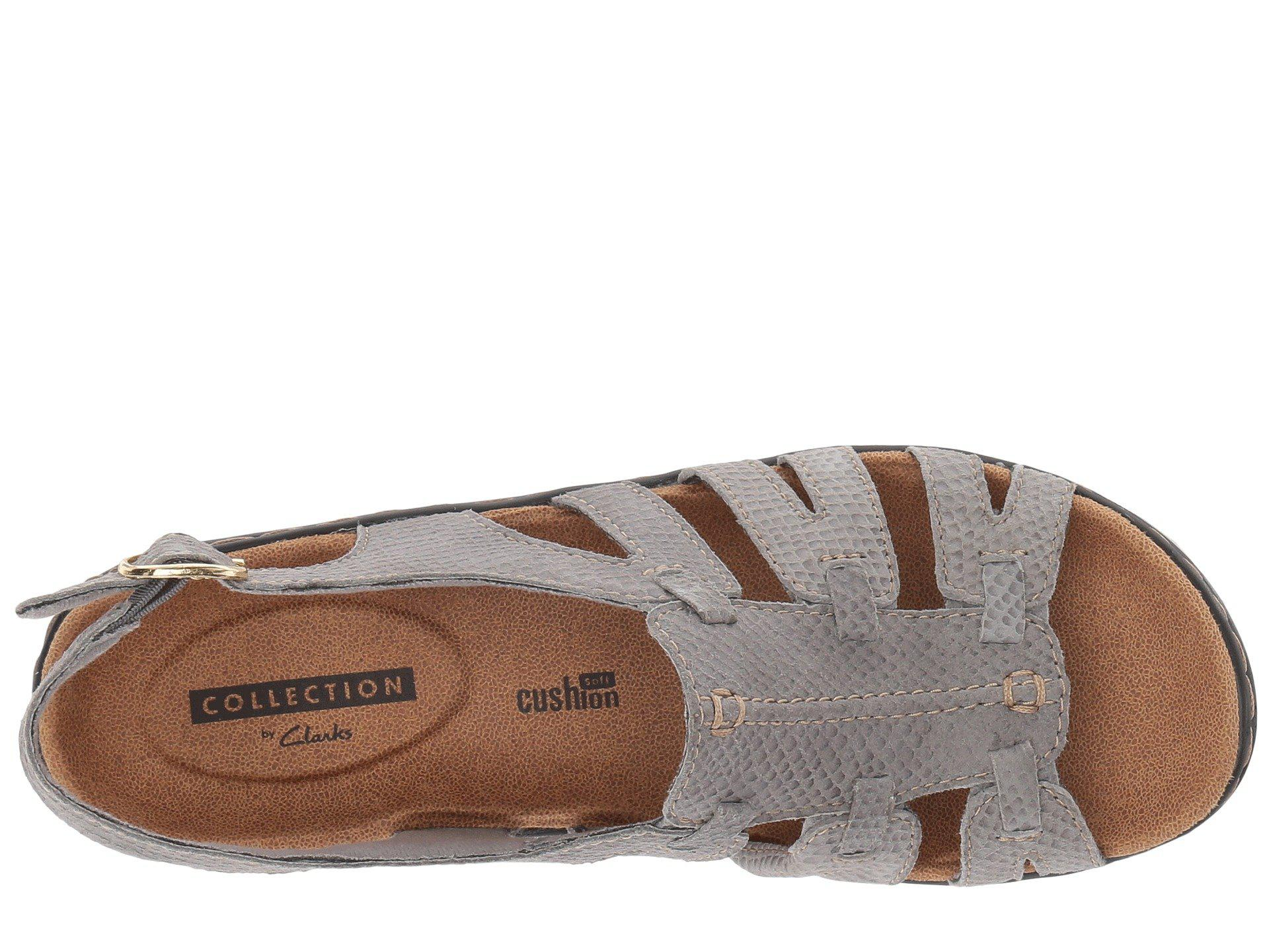 3663e13f397 Clarks - Gray Lexi Marigold Q (pewter Leather) Women s Sandals - Lyst. View  fullscreen