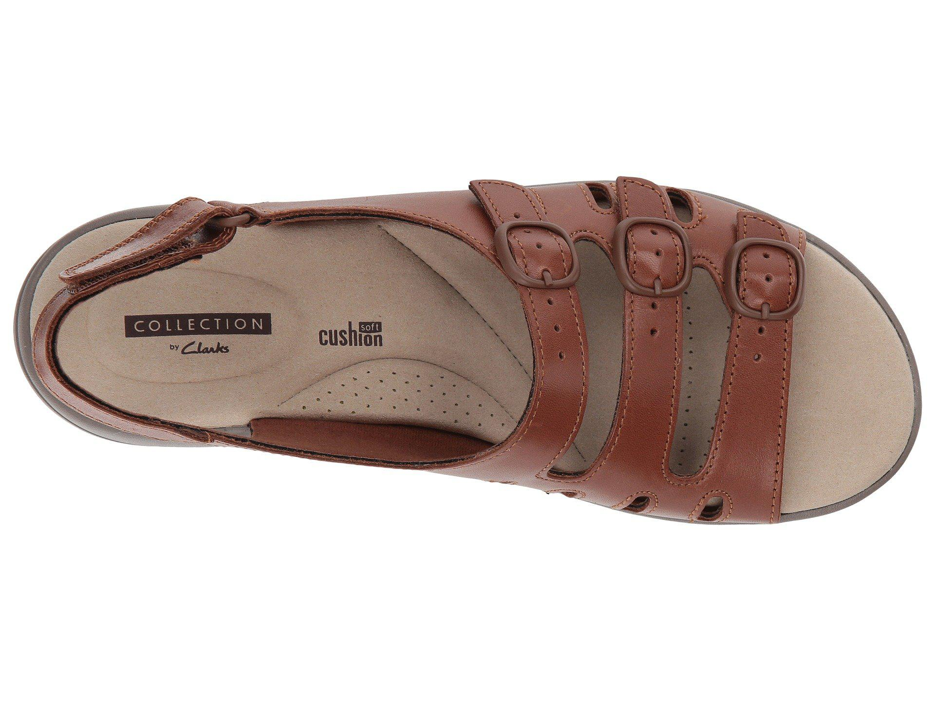 848c509605bd Lyst - Clarks Saylie Quartz (tan Leather) Women s Sandals in Brown