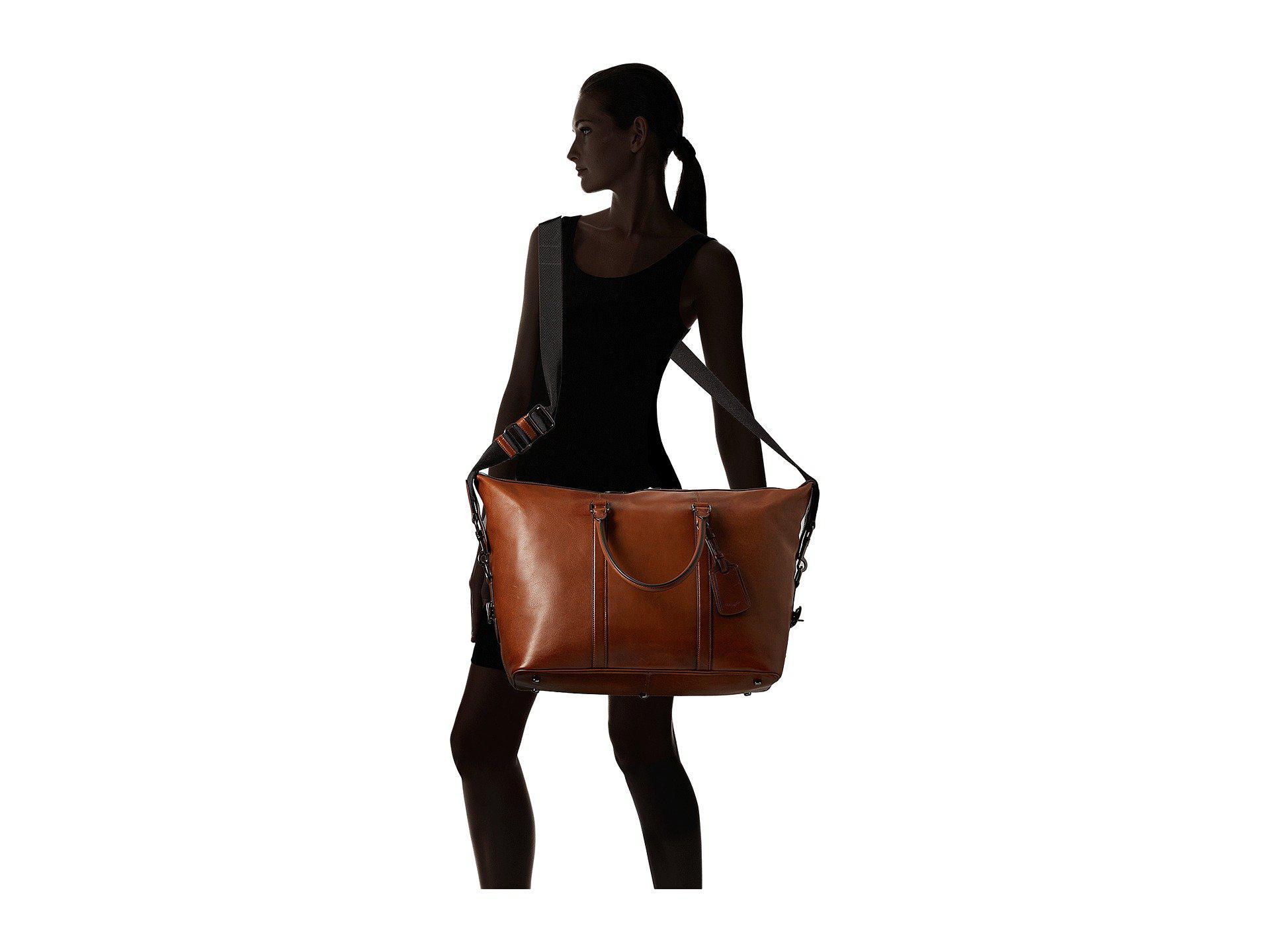 ec828478b COACH Explorer Bag In Sport Calf Leather (qb/dark Saddle) Bags in ...